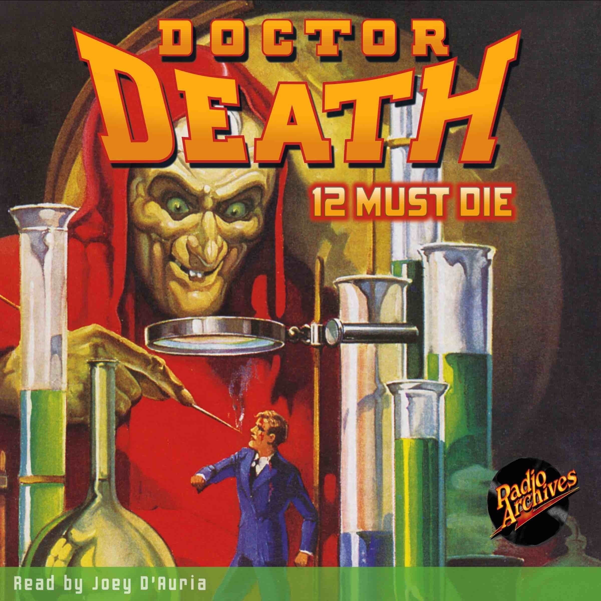 Printable Doctor Death #1: 12 Must Die Audiobook Cover Art