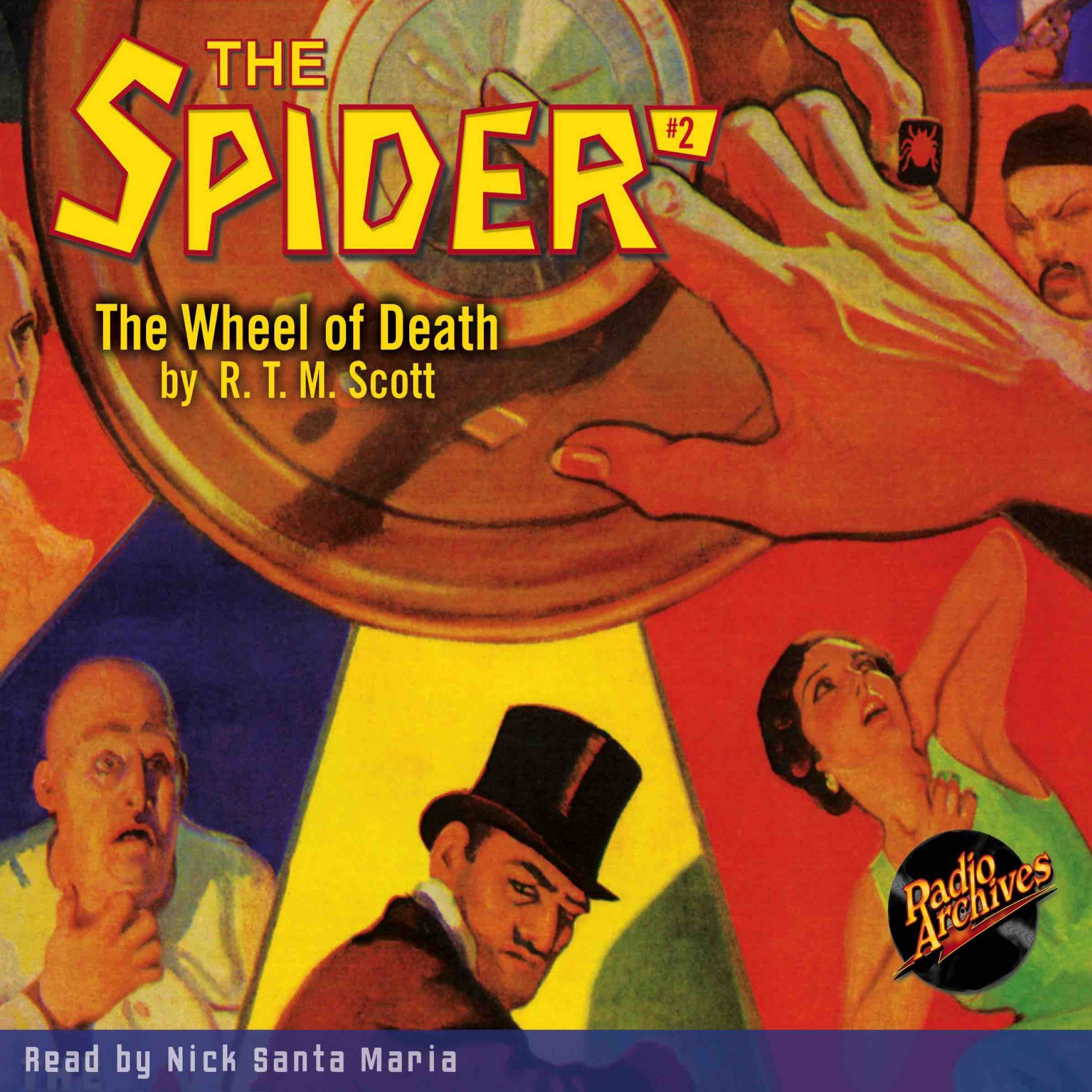 Printable Spider #2, The: The Wheel of Death Audiobook Cover Art