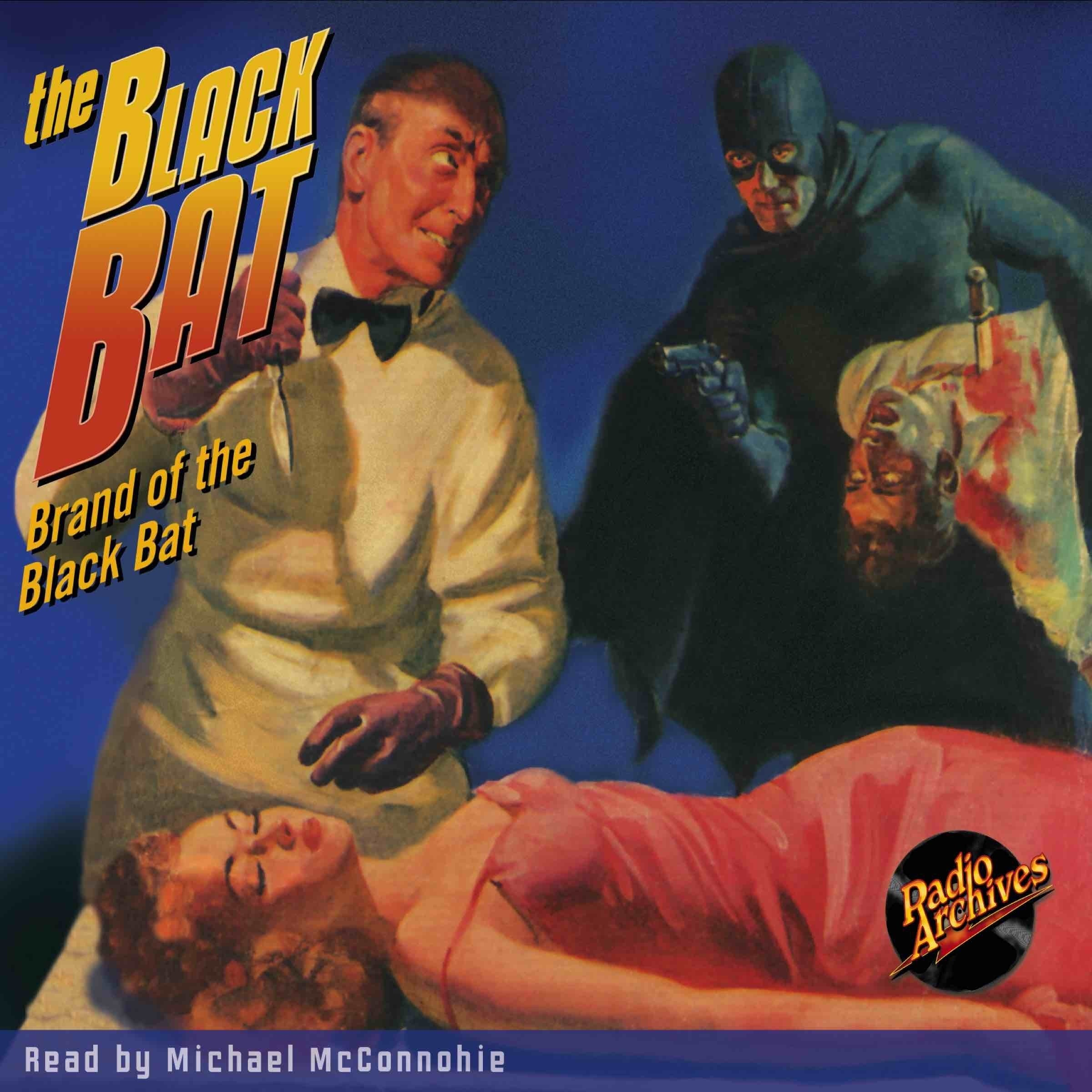 Printable The Black Bat: Brand of the Black Bat Audiobook Cover Art