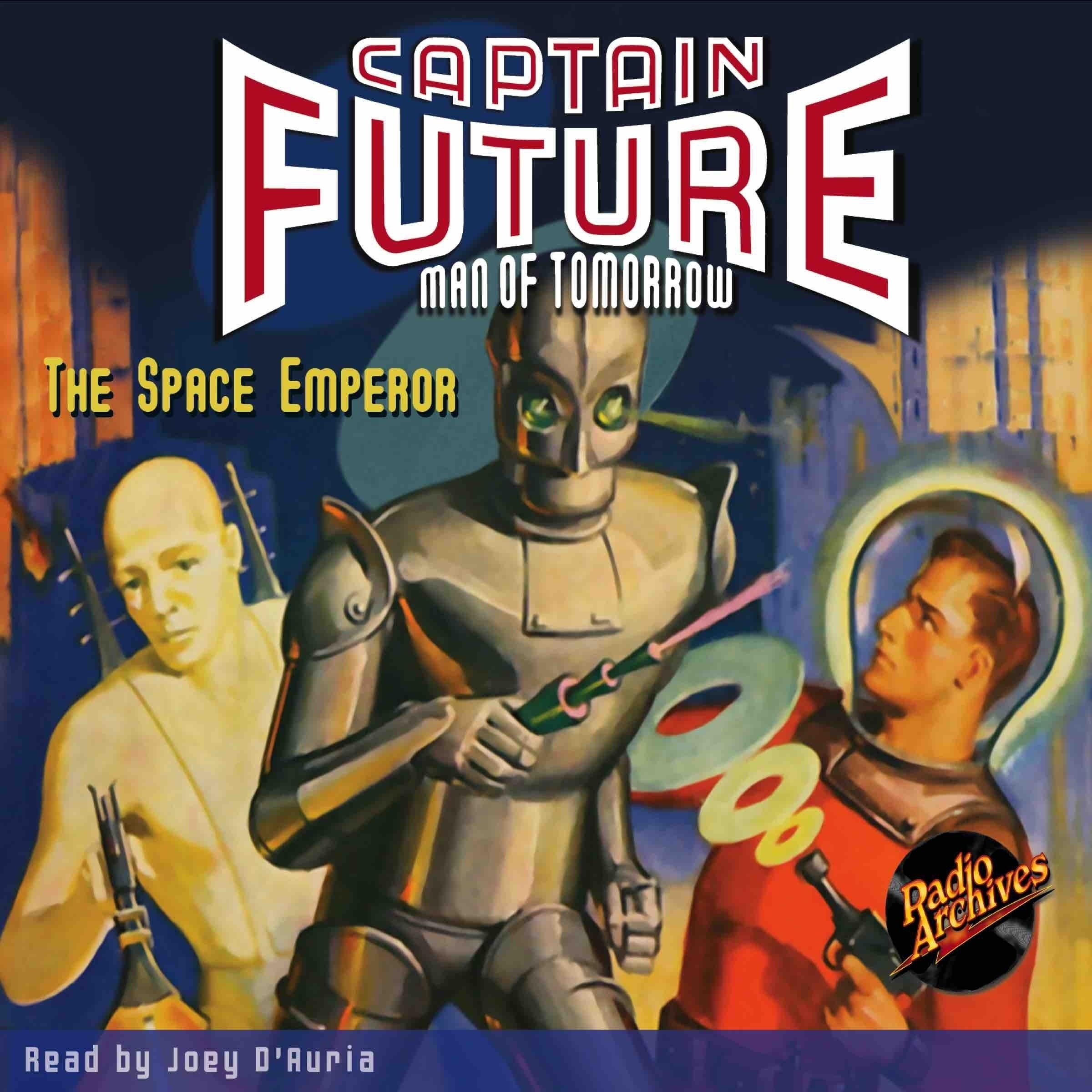 Printable Captain Future: The Space Emperor Audiobook Cover Art