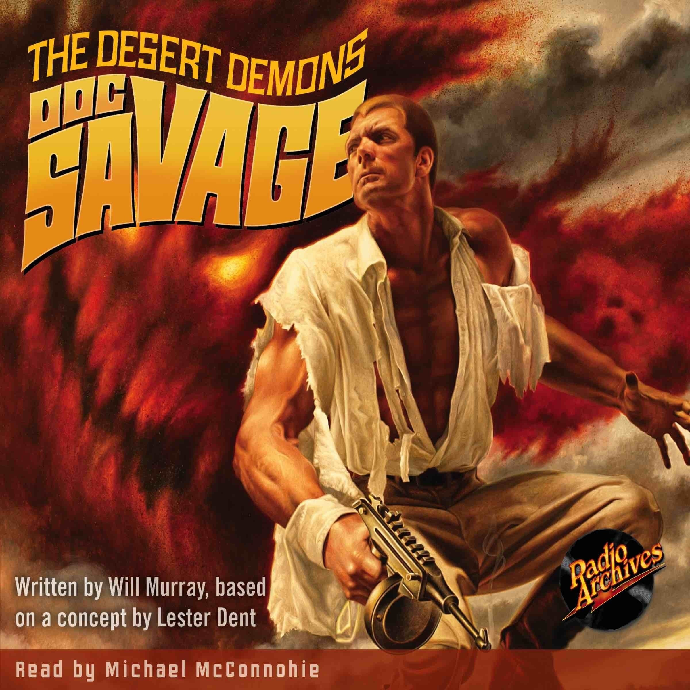 Printable Doc Savage #4: The Desert Demons Audiobook Cover Art