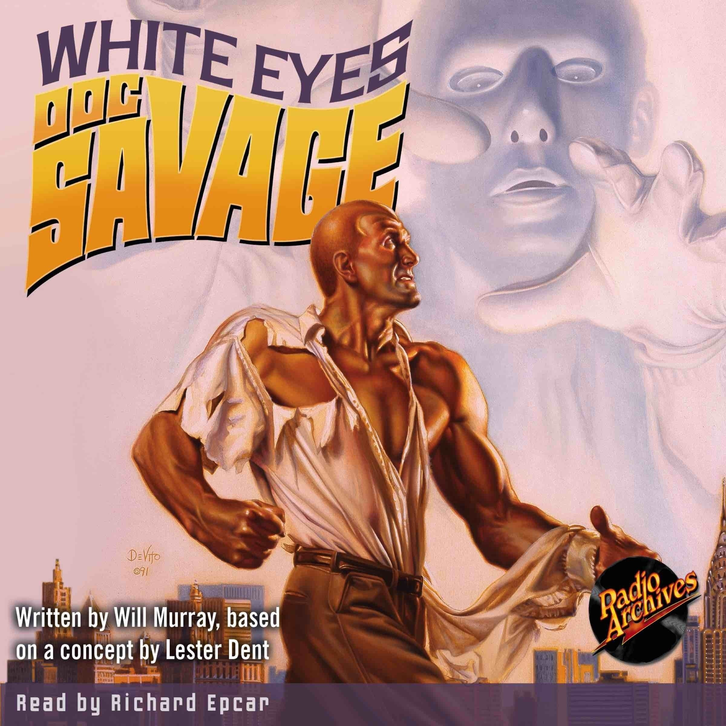 Printable Doc Savage #9: White Eyes Audiobook Cover Art