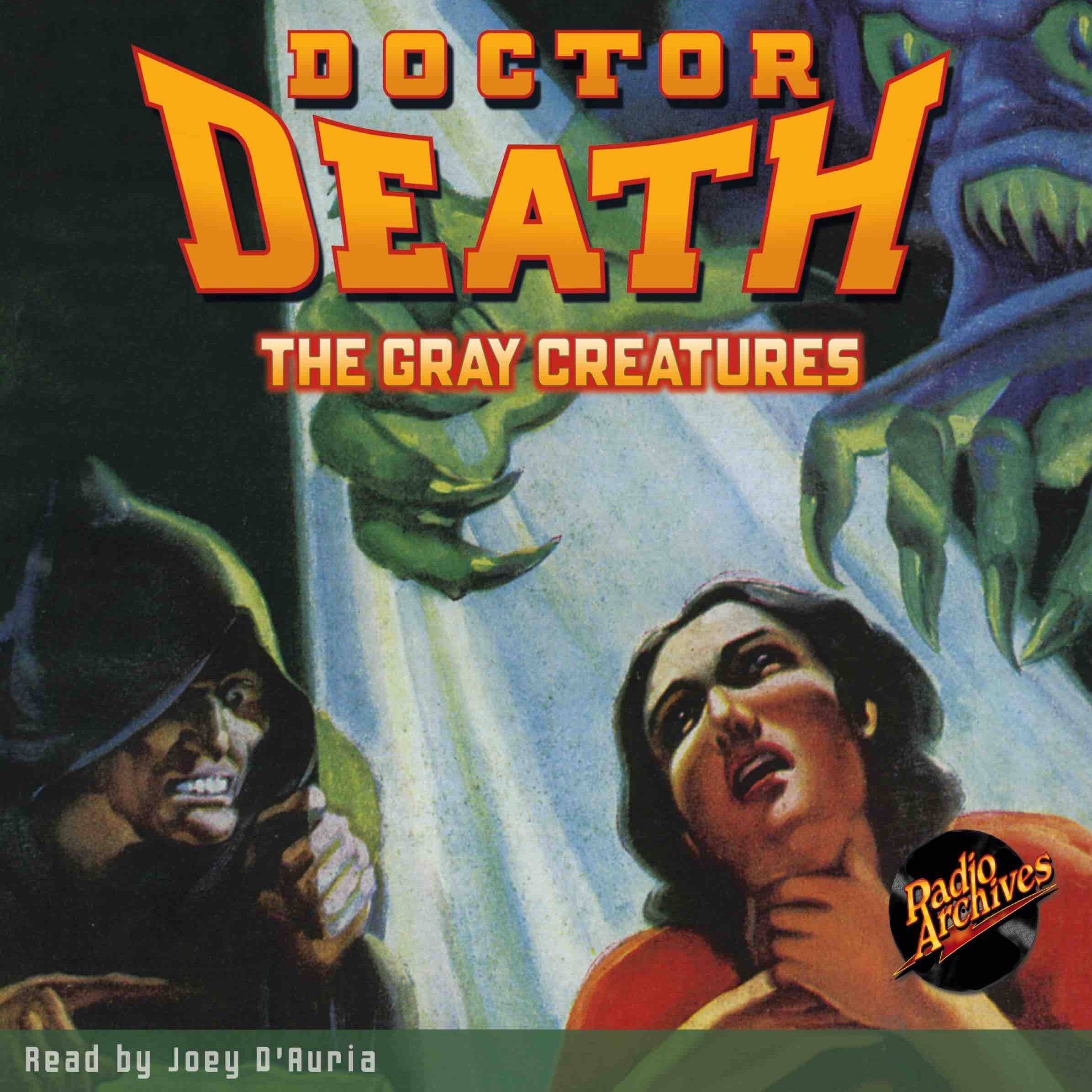Printable Doctor Death #2: The Gray Creatures Audiobook Cover Art