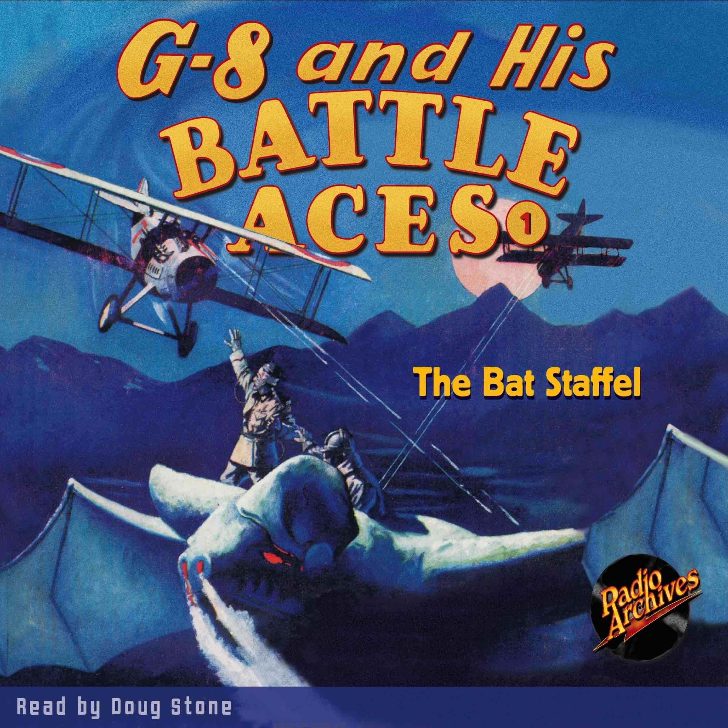 Printable G-8 and His Battle Aces #1: The Bat Staffel Audiobook Cover Art