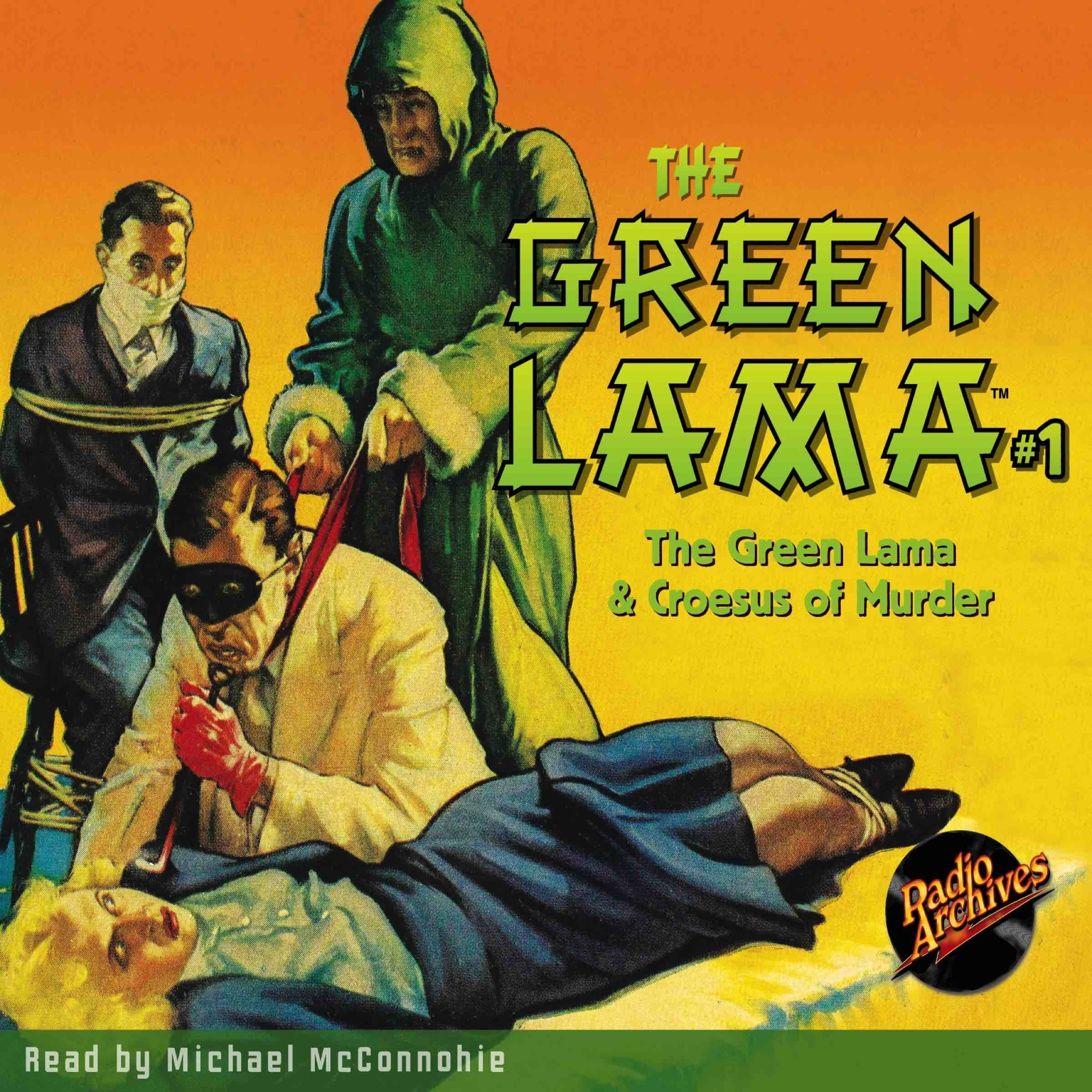 Printable The Green Lama #1: The Green Lama & Croesus of Murder Audiobook Cover Art