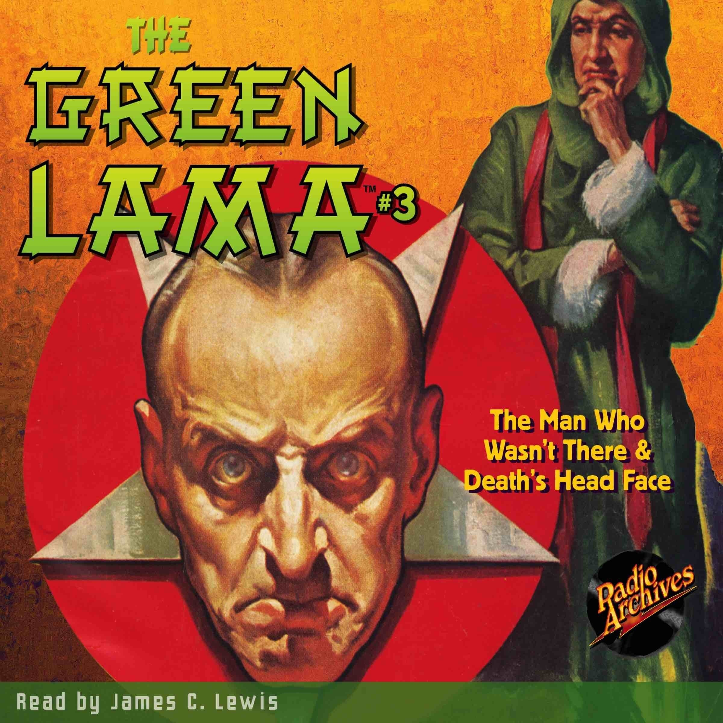 Printable The Green Lama #3: The Man Who Wasn't There & Death's Head Face Audiobook Cover Art