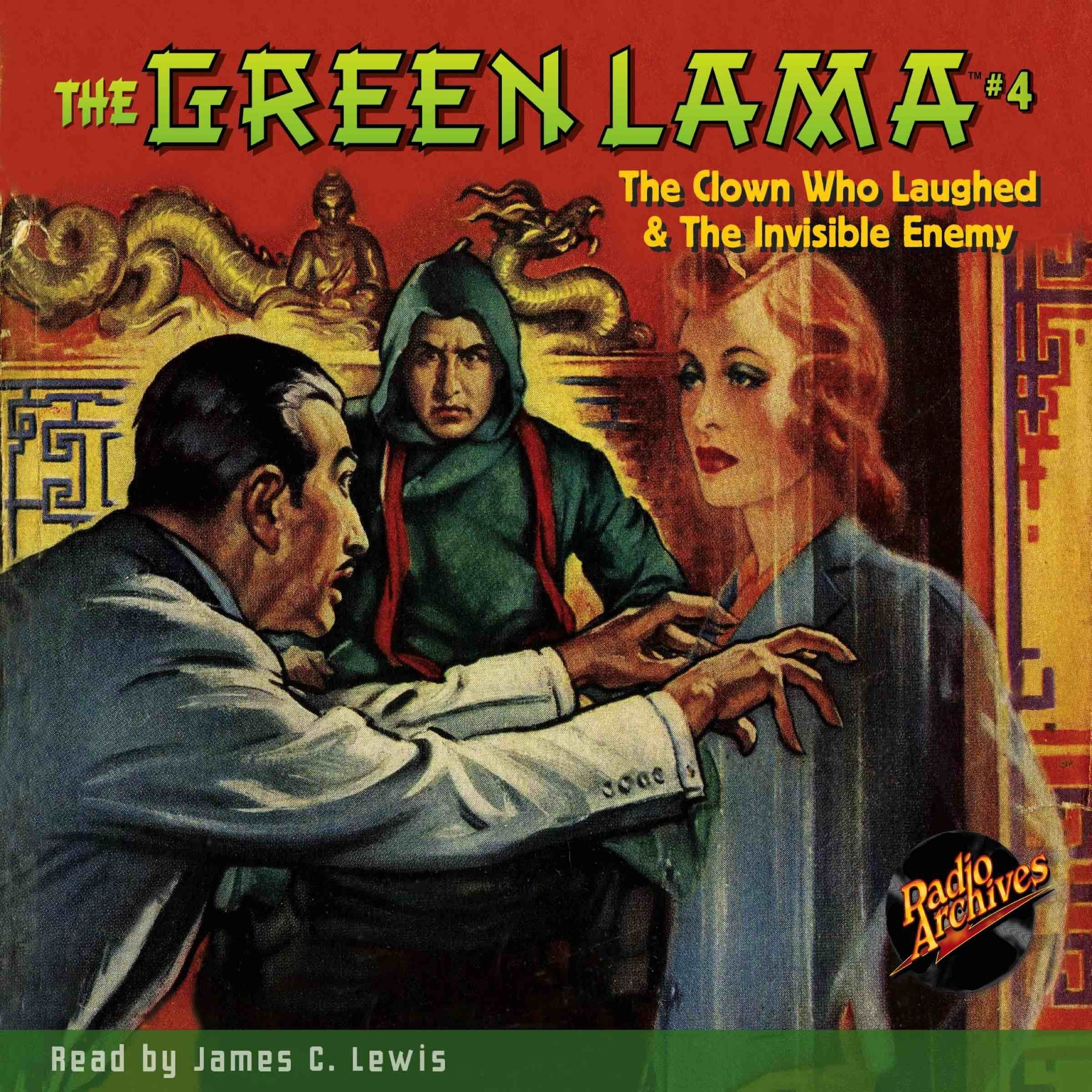 Printable The Green Lama #4: The Clown Who Laughed & The Invisible Enemy Audiobook Cover Art