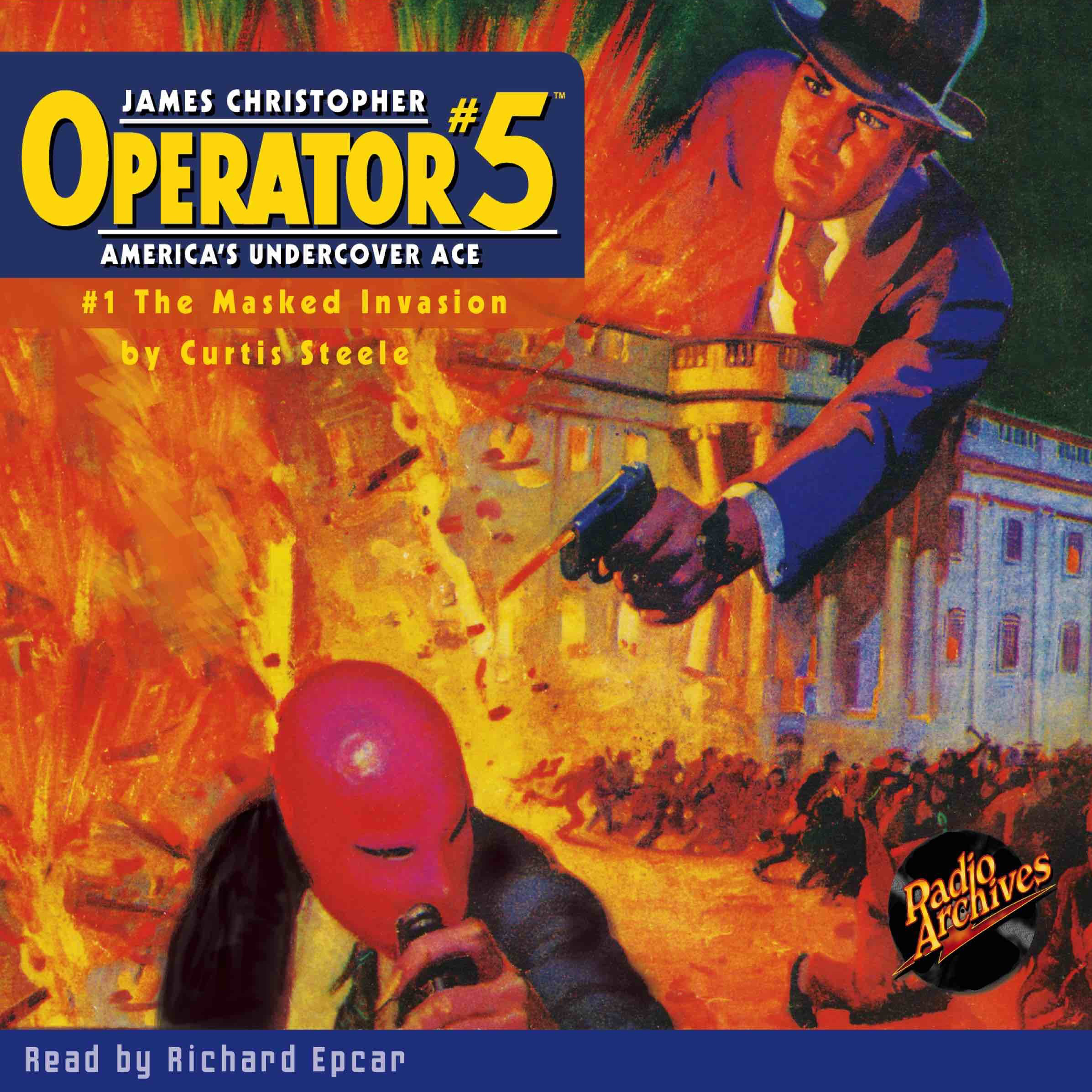 Printable Operator #5 V1: The Masked Invasion Audiobook Cover Art