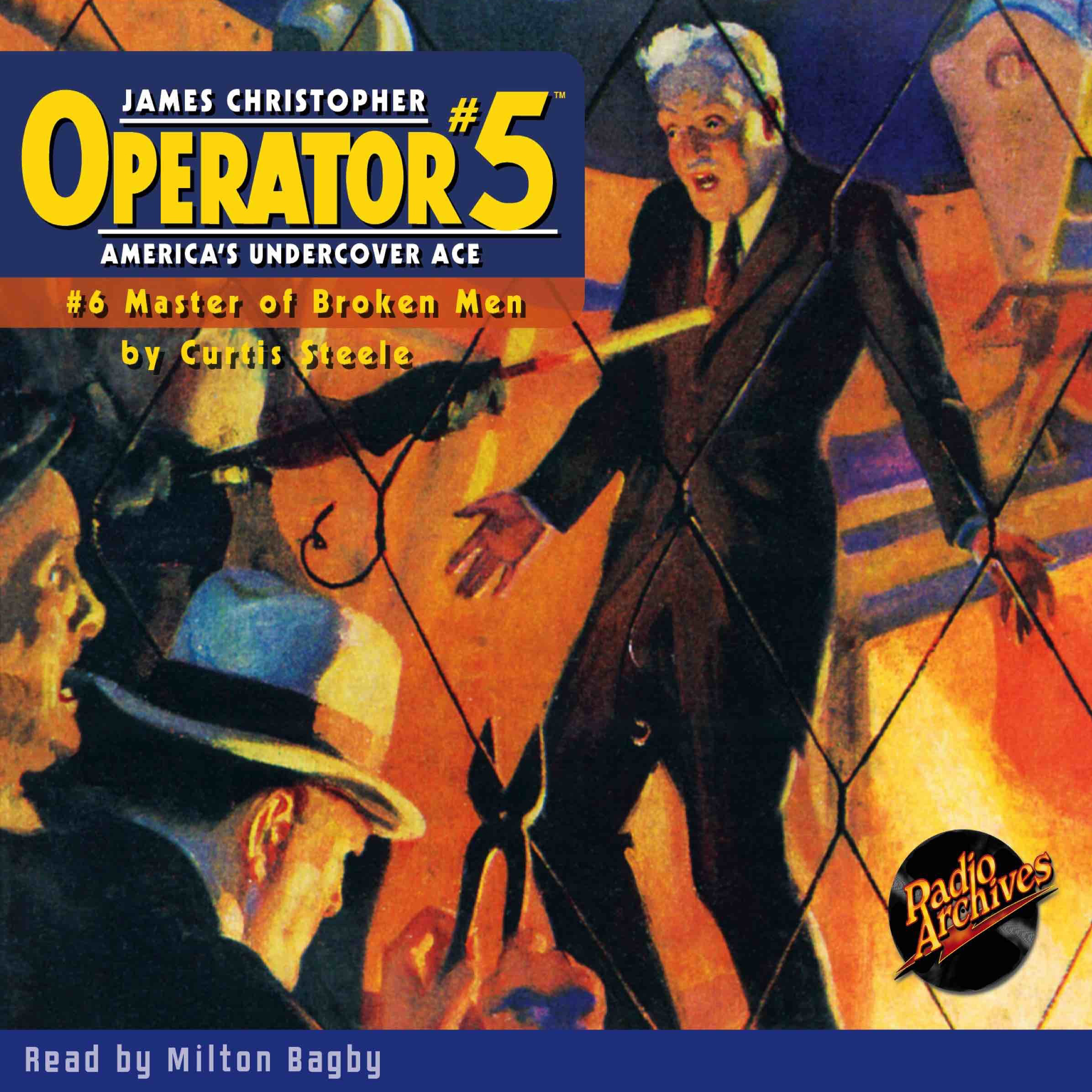 Printable Operator #5 V6: Master of Broken Men Audiobook Cover Art