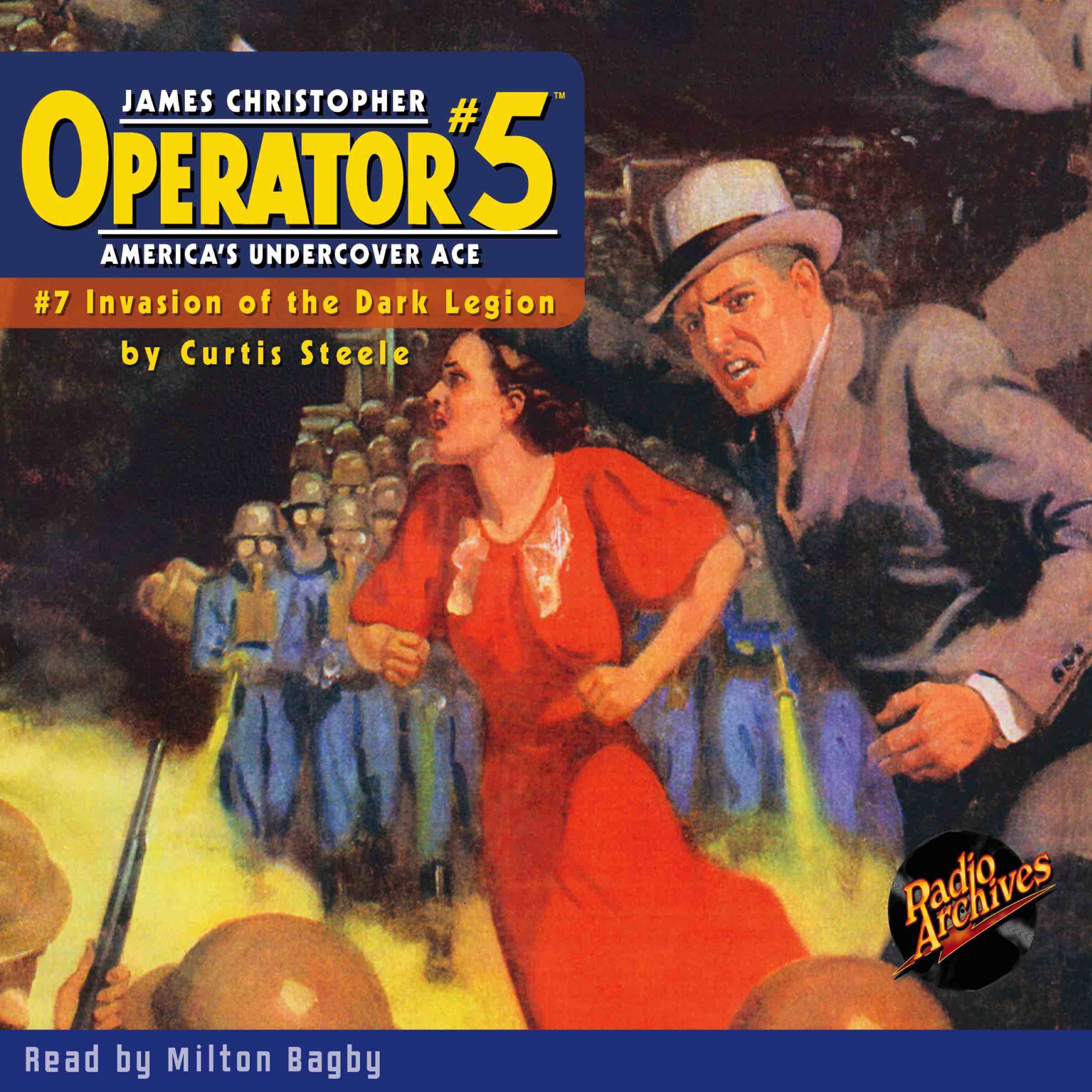 Printable Operator #5 V7: Invasion of the Dark Legion Audiobook Cover Art