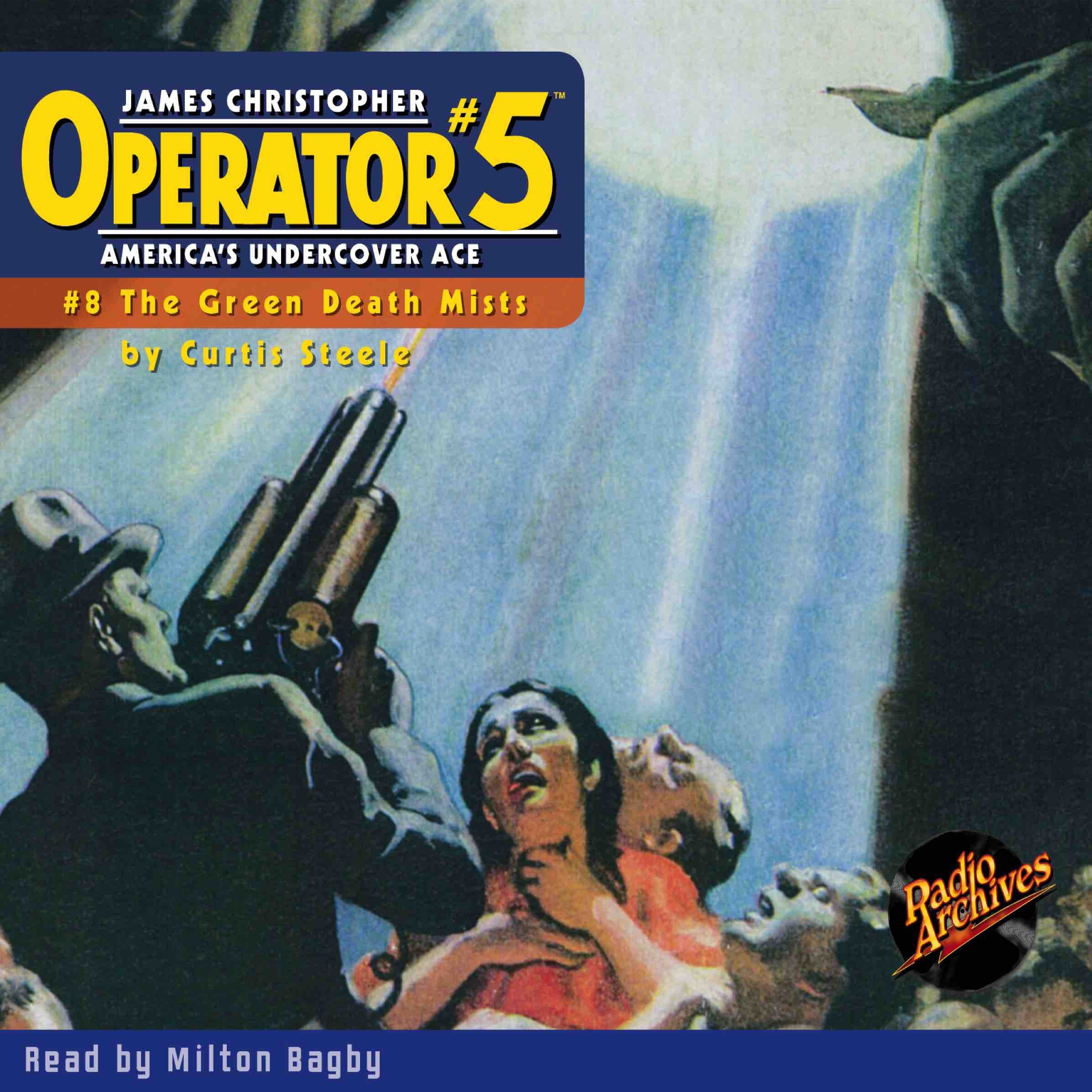 Printable Operator #5 V8: The Green Death Mists Audiobook Cover Art