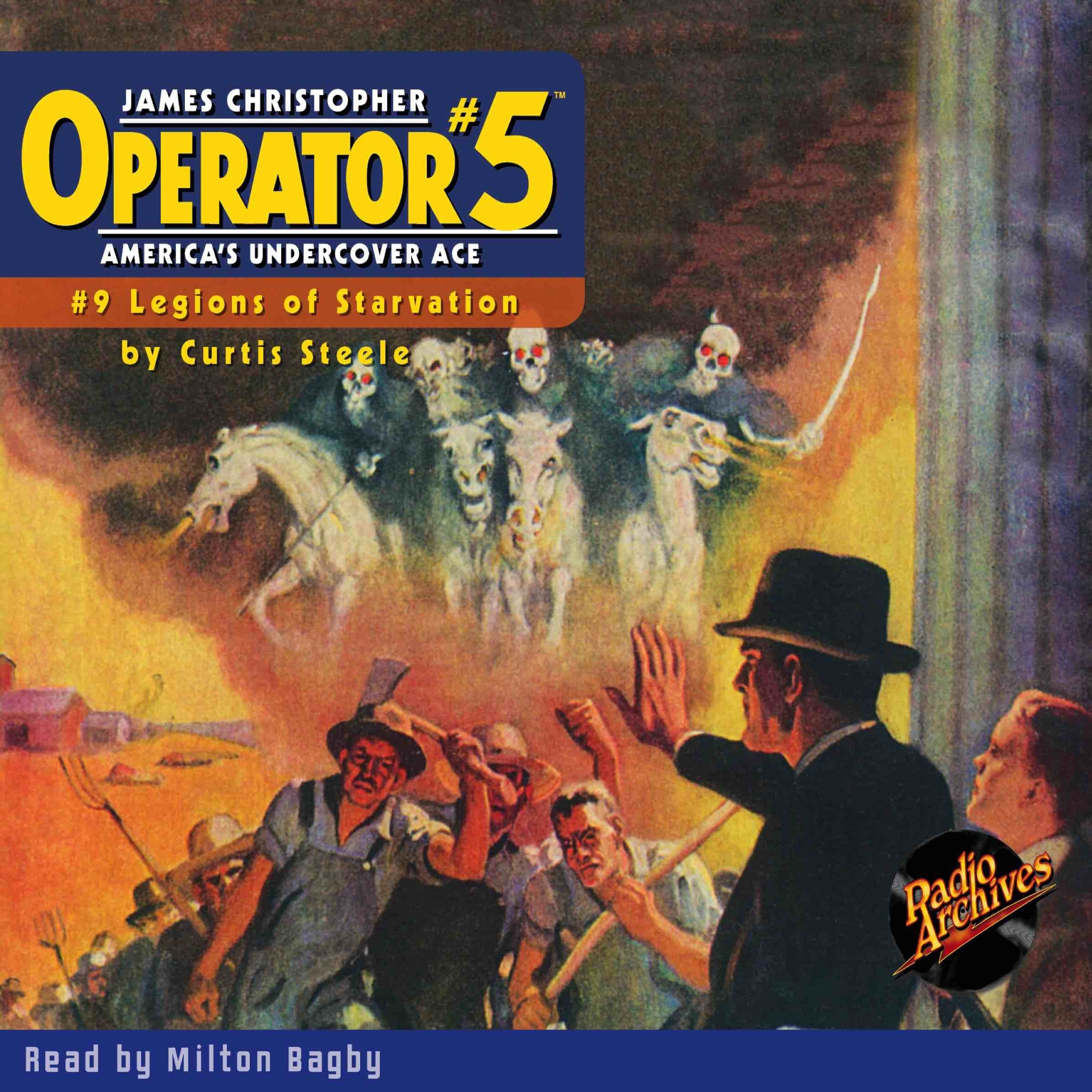Printable Operator #5 V9: Legions of Starvation Audiobook Cover Art