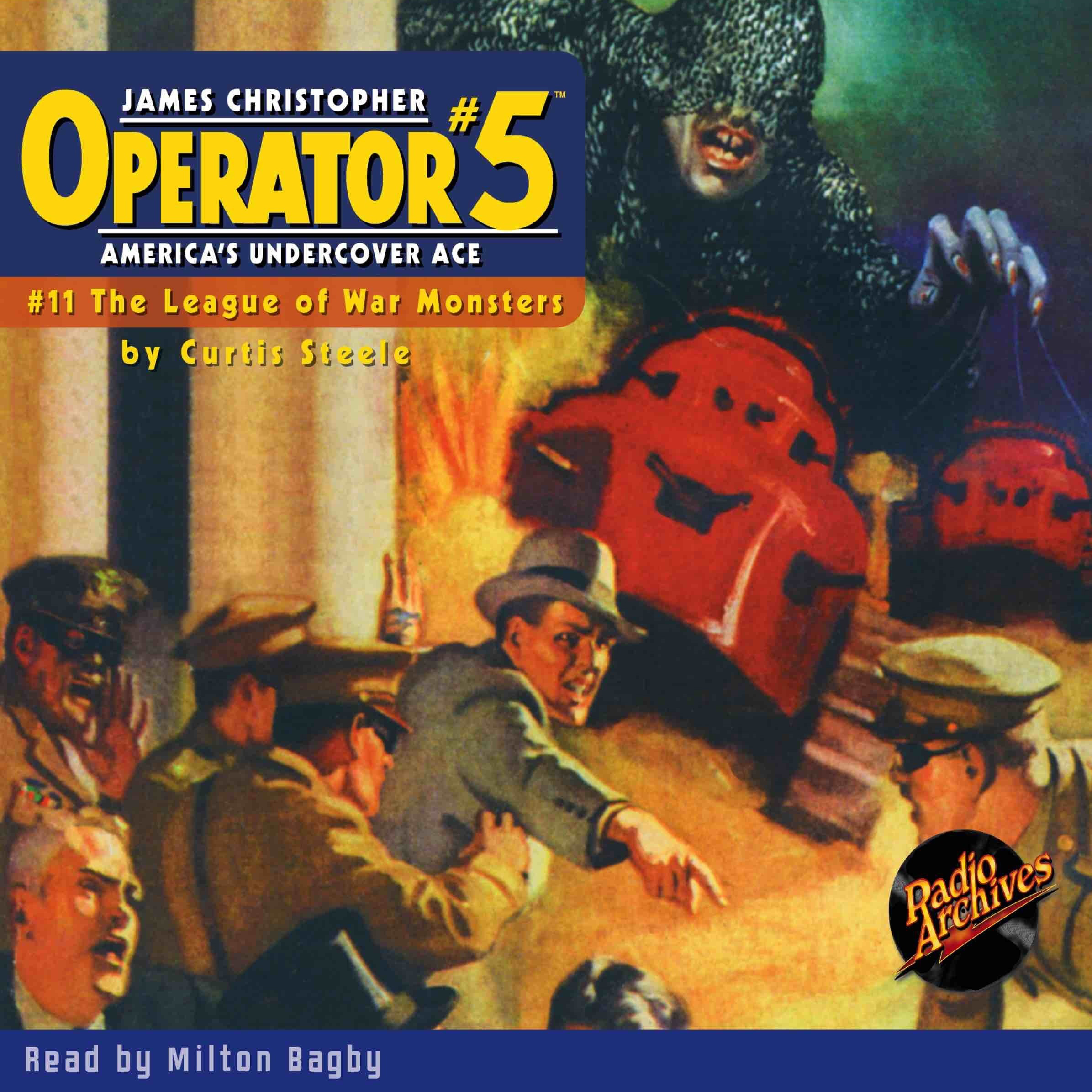 Printable Operator #5 V11: League of War Monsters Audiobook Cover Art