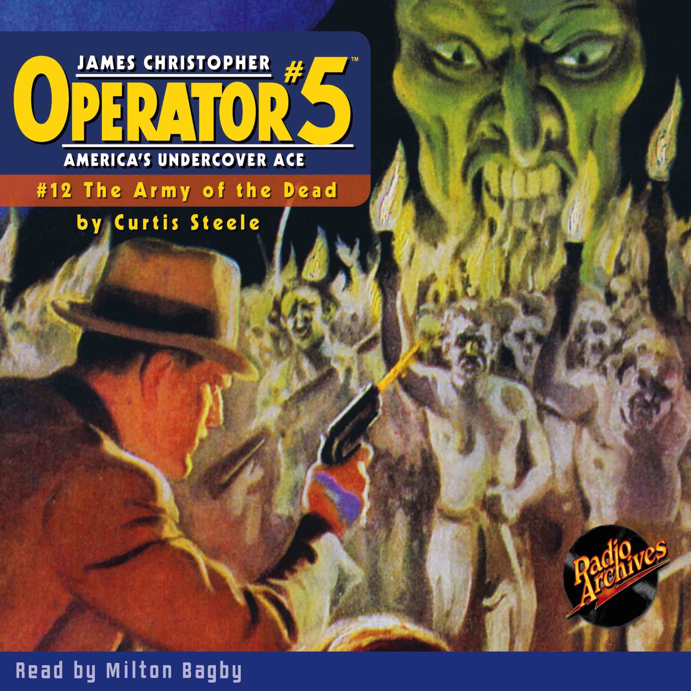 Printable Operator #5 V12: The Army of the Dead Audiobook Cover Art