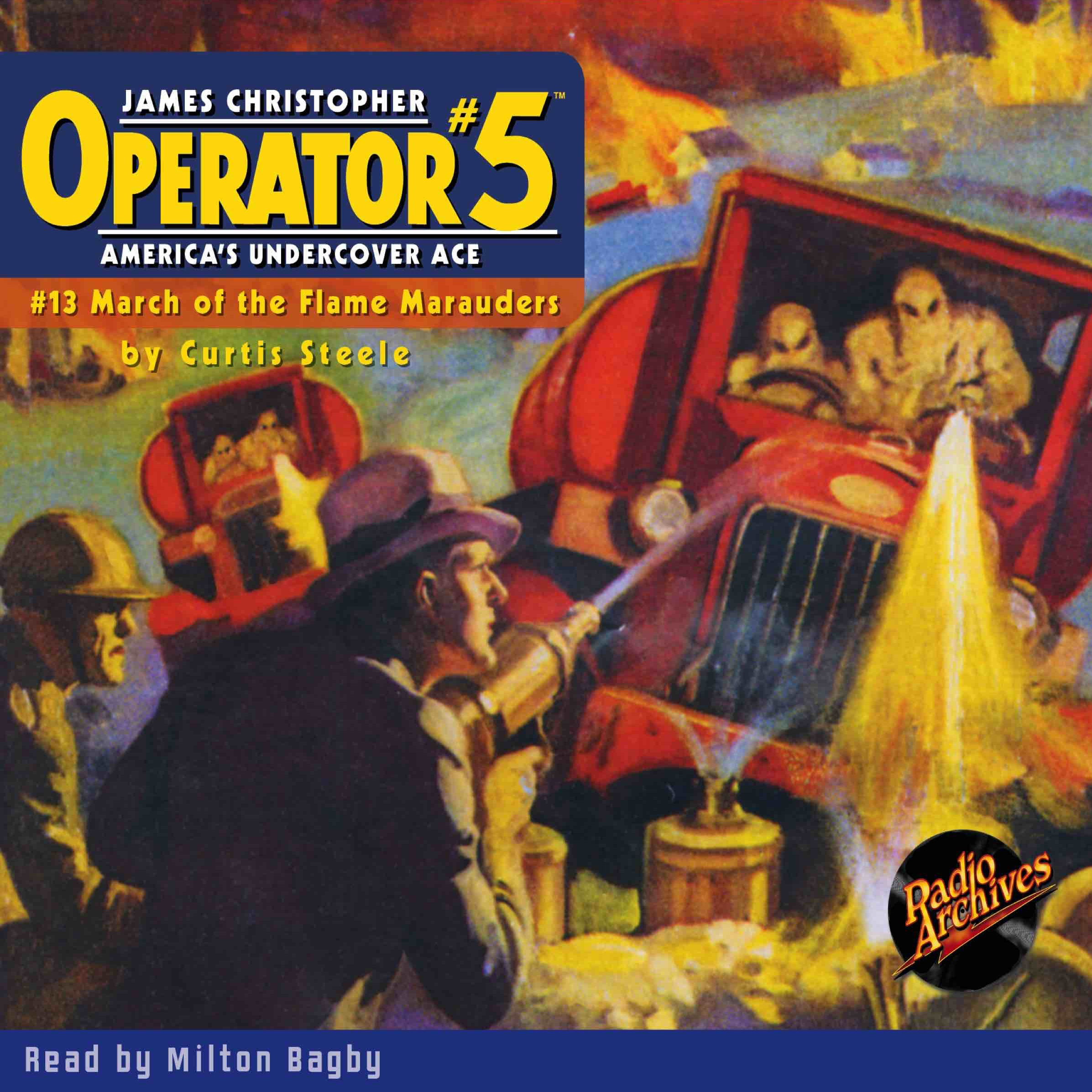 Printable Operator #5 V13: March of the Flame Marauders Audiobook Cover Art