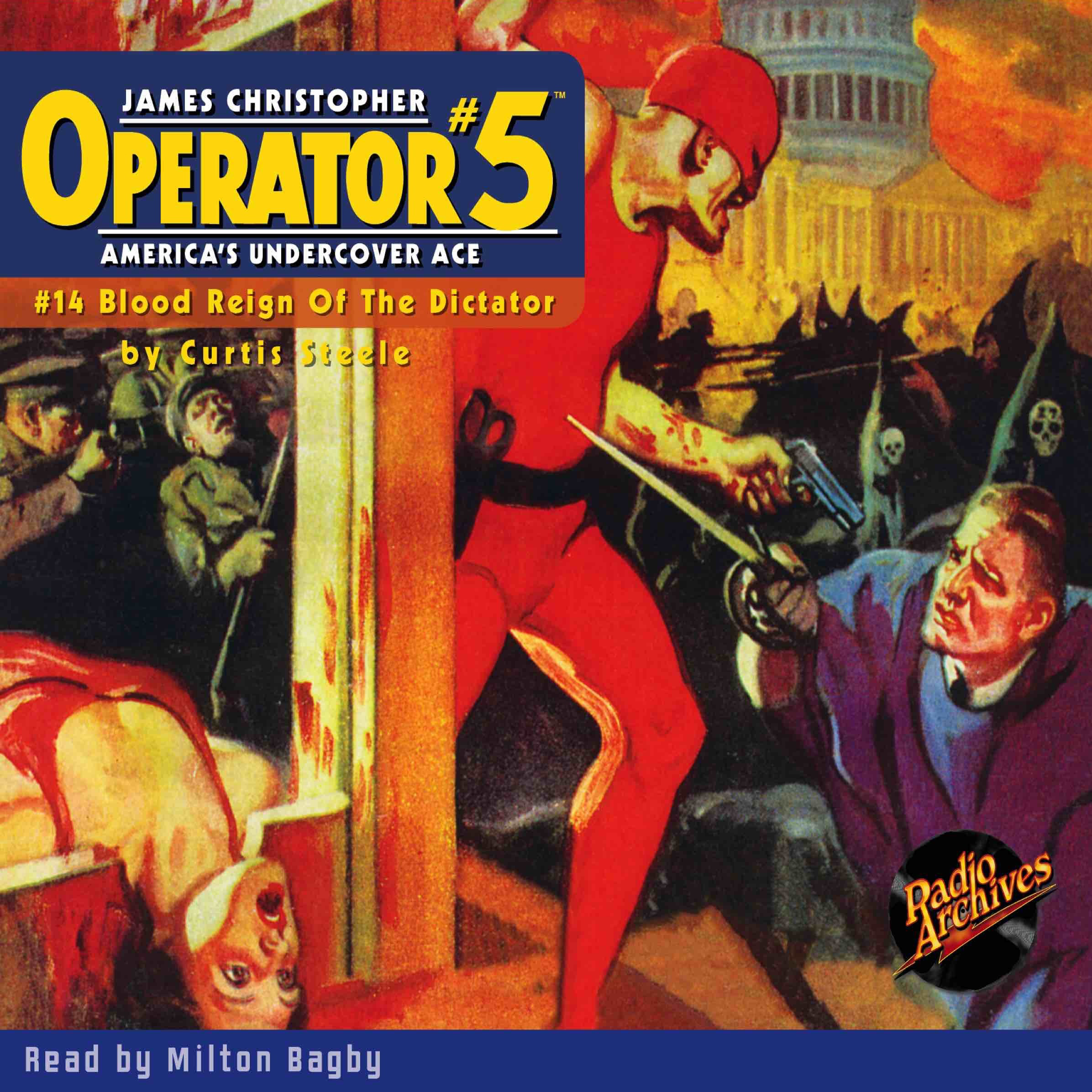 Printable Operator #5 V14: Blood Reign of the Dictator Audiobook Cover Art