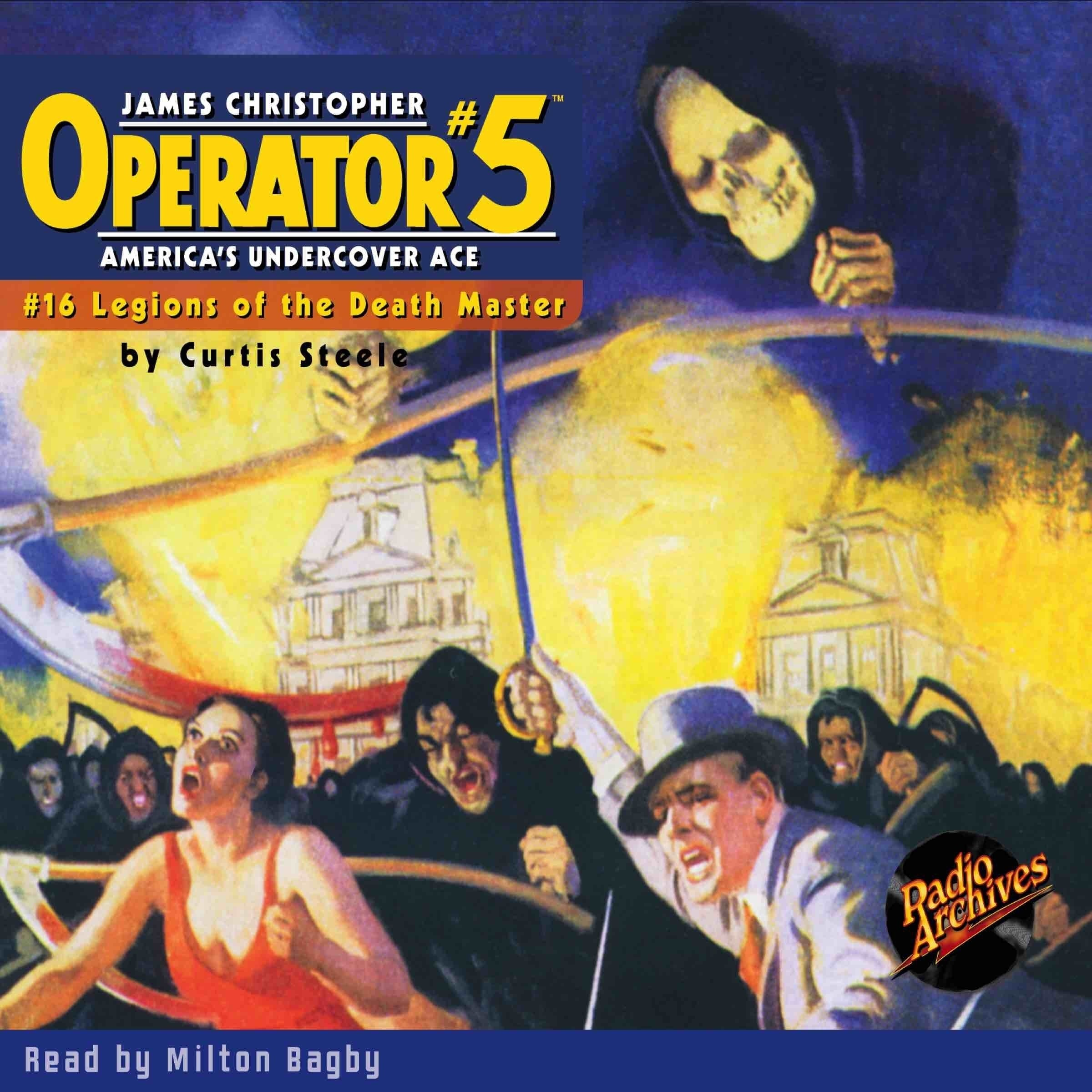 Printable Operator #5 V16: Legions of the Death-Master Audiobook Cover Art