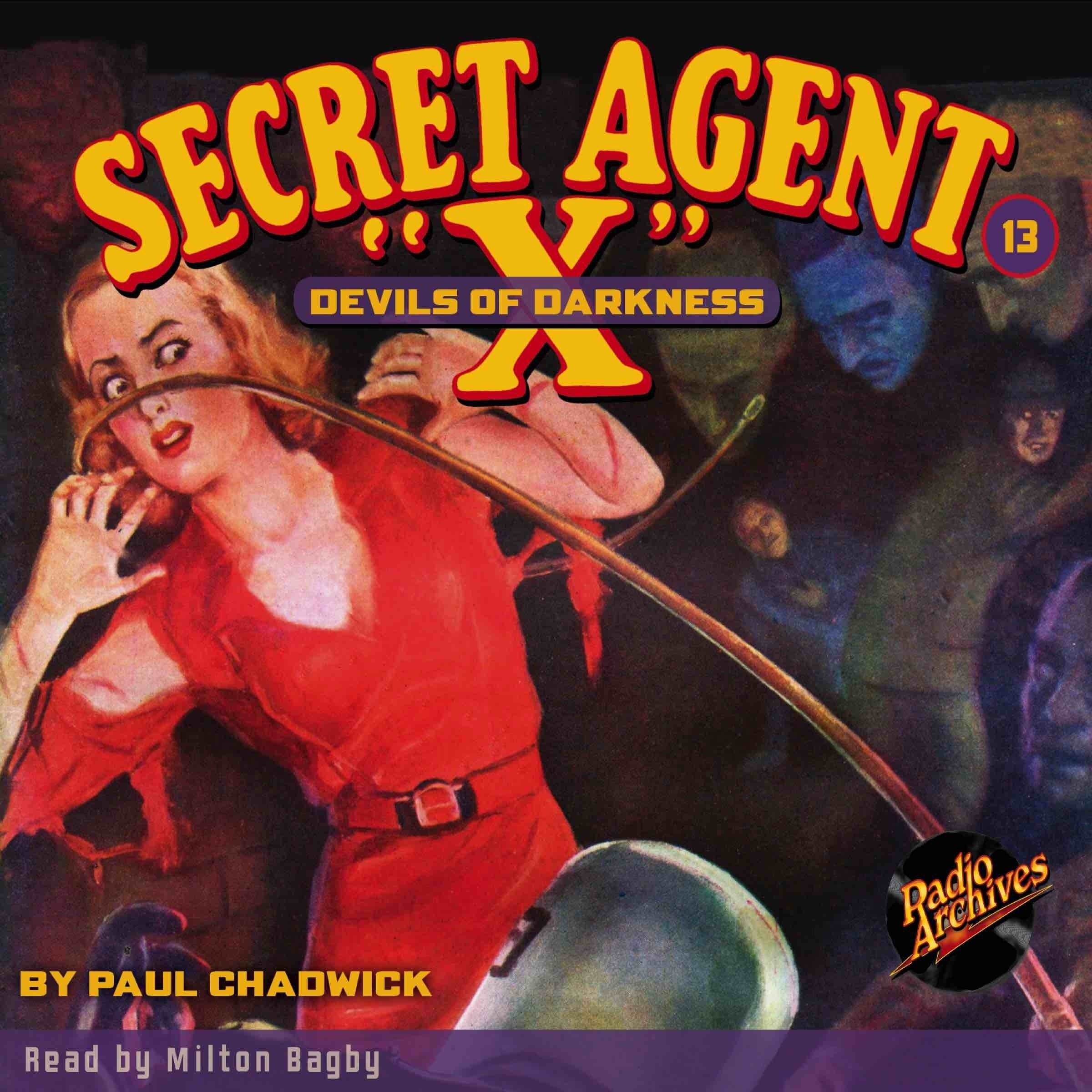 Printable Secret Agent 'X': Devils of Darkness Audiobook Cover Art