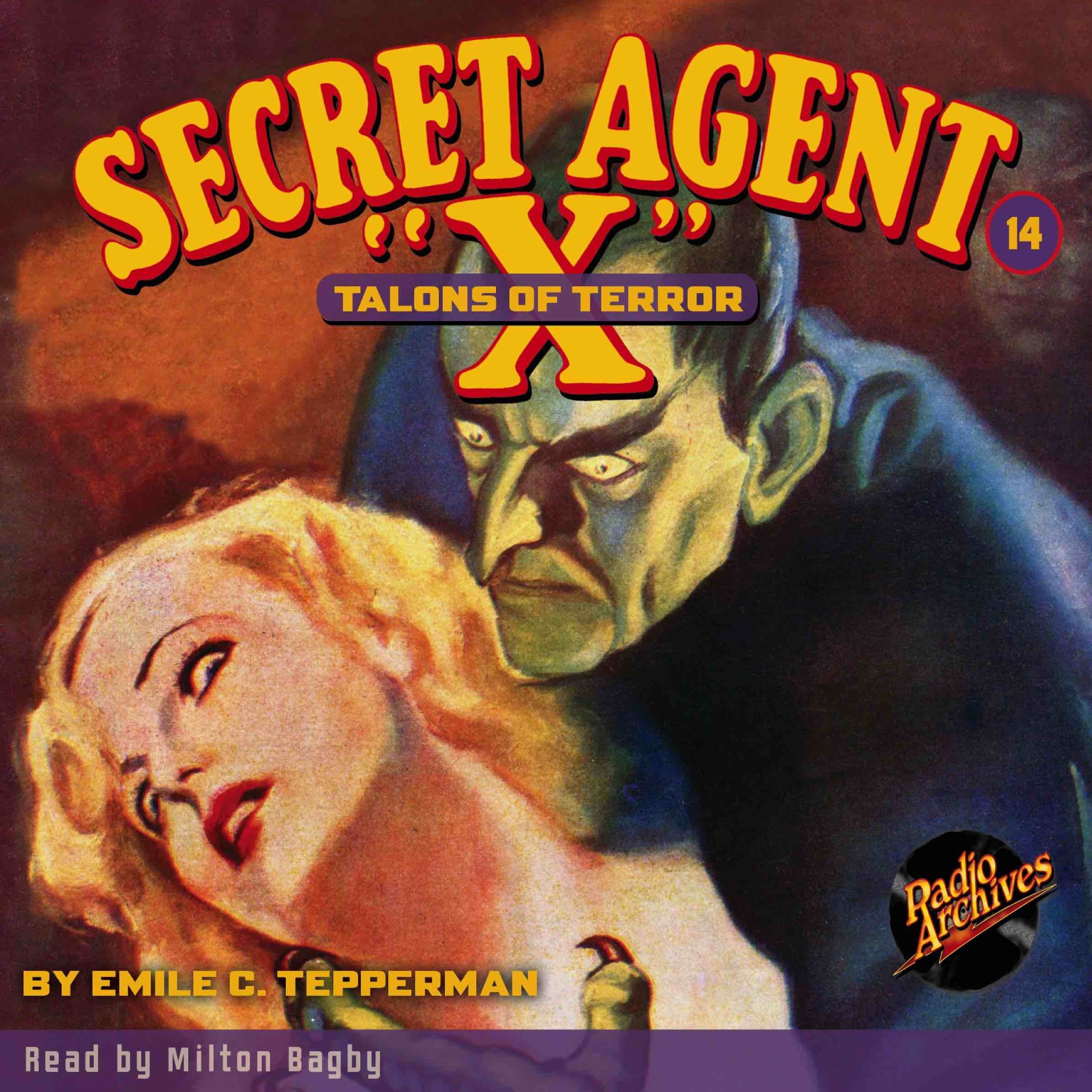 Printable Secret Agent 'X': Talons of Terror Audiobook Cover Art
