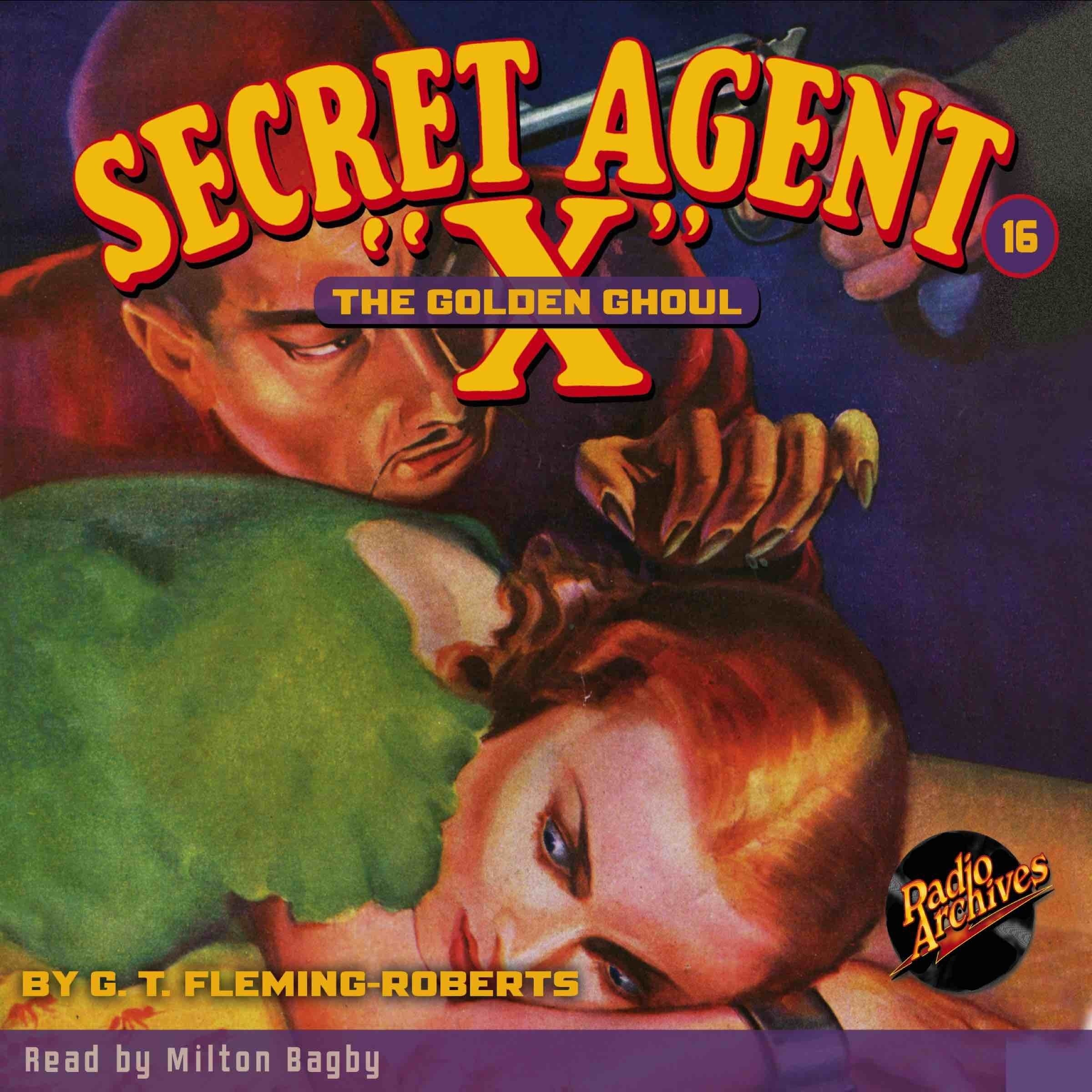 Printable Secret Agent 'X': The Golden Ghoul Audiobook Cover Art