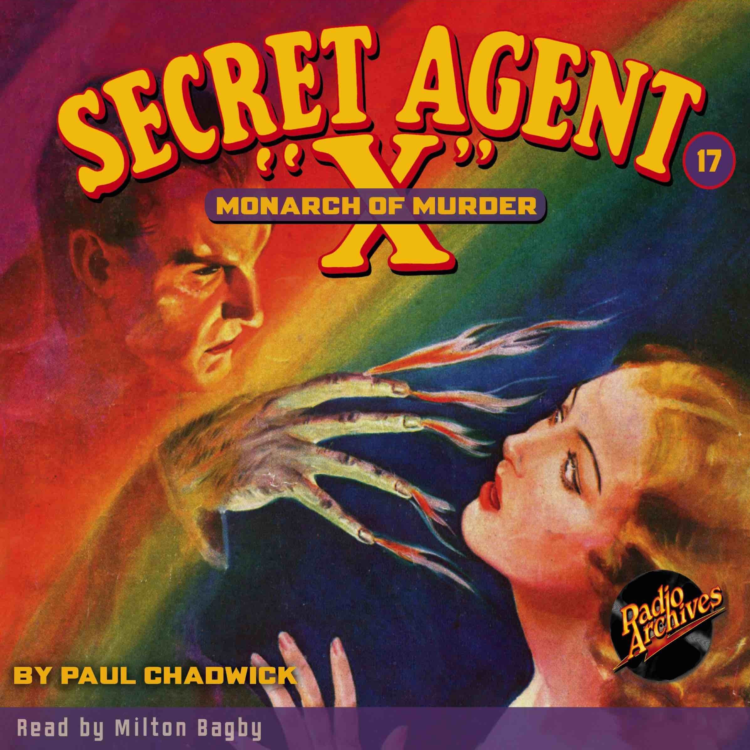 Printable Secret Agent 'X': The Monarch of Murder Audiobook Cover Art