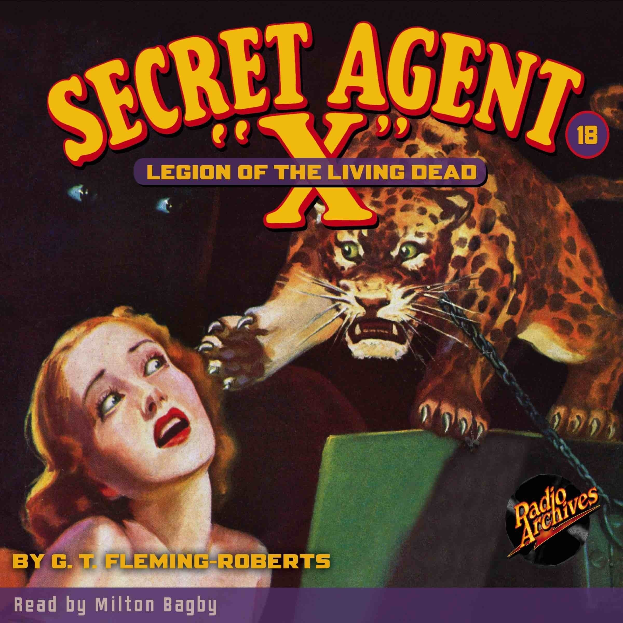 Printable Secret Agent 'X': Legion of the Living Dead Audiobook Cover Art