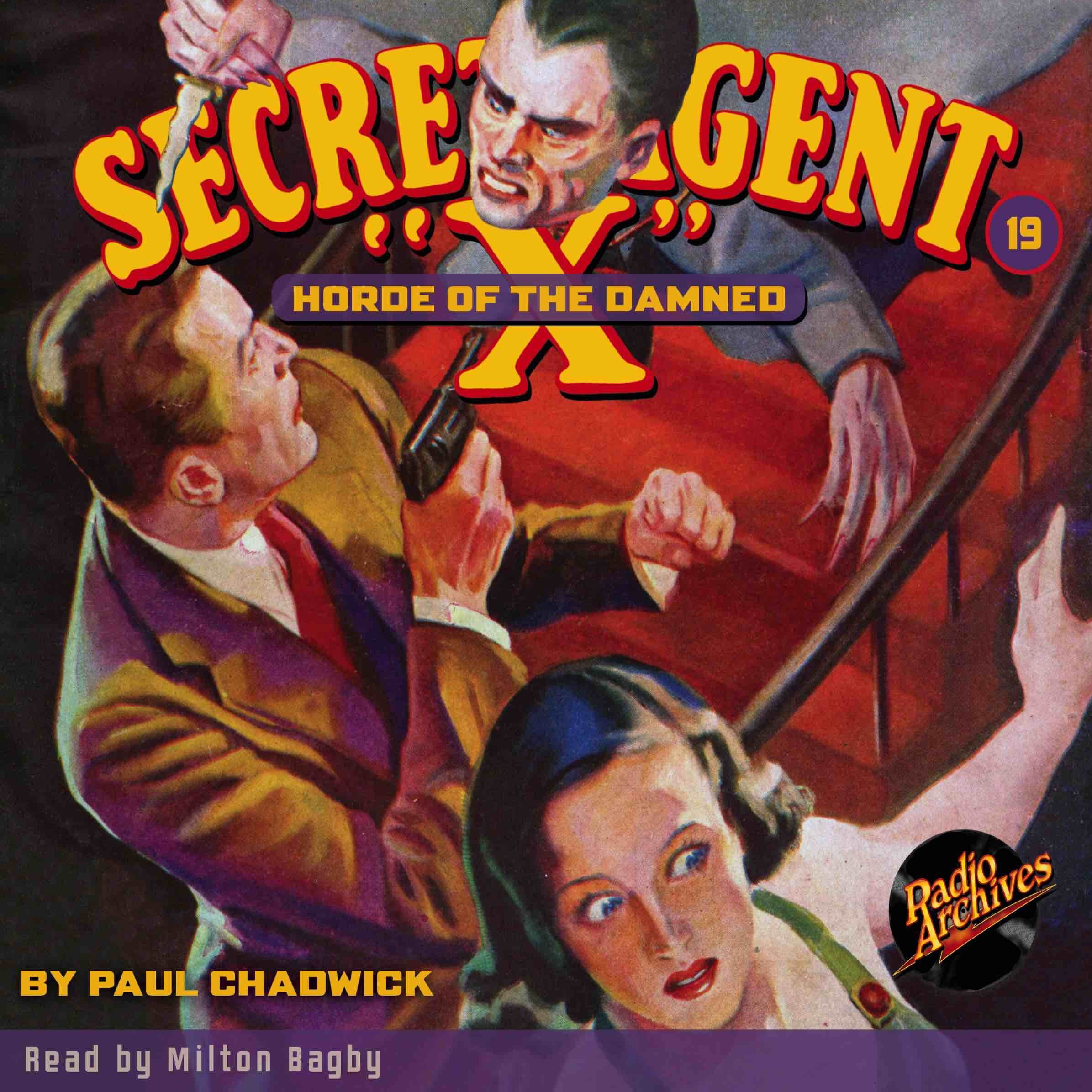 Printable Secret Agent 'X': Horde of the Damned Audiobook Cover Art