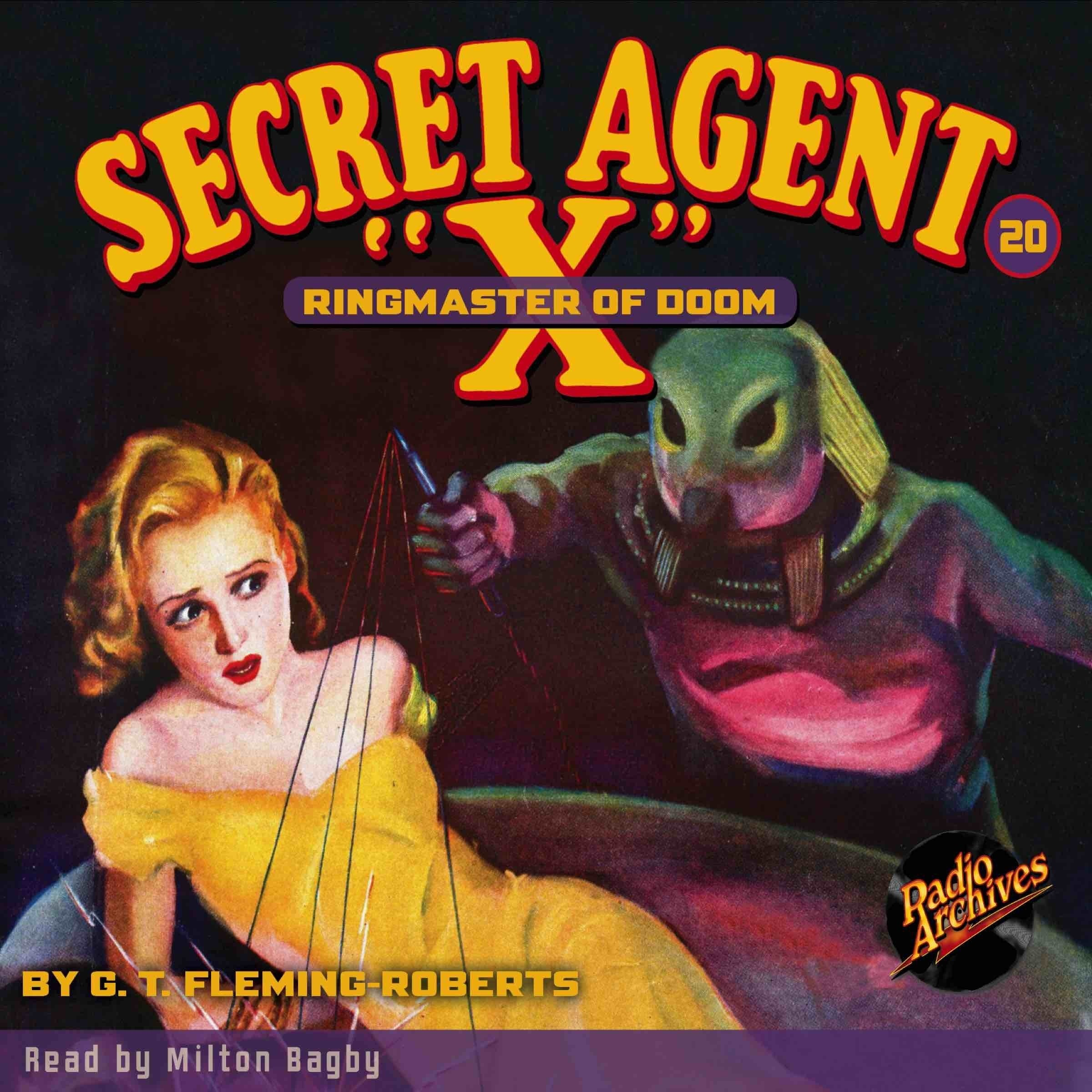 Printable Secret Agent 'X': Ringmaster of Doom Audiobook Cover Art