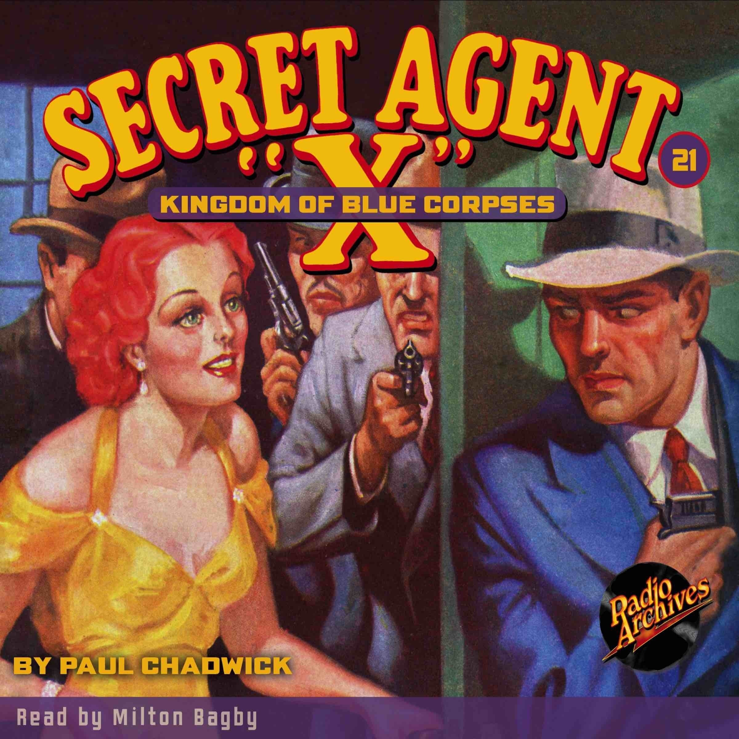 Printable Secret Agent 'X': Kingdom of Blue Corpses Audiobook Cover Art