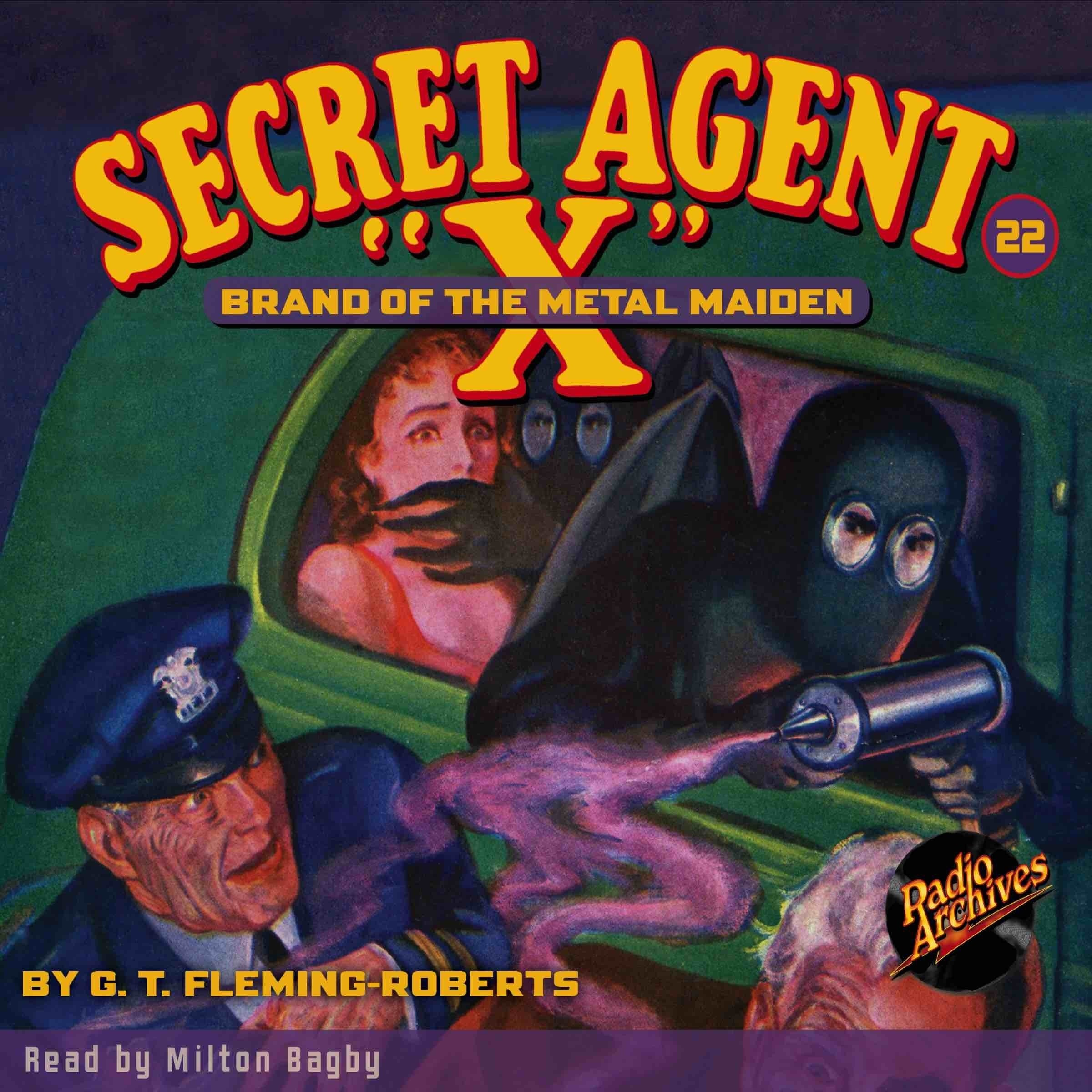 Printable Secret Agent 'X': Brand of the Metal Maiden Audiobook Cover Art
