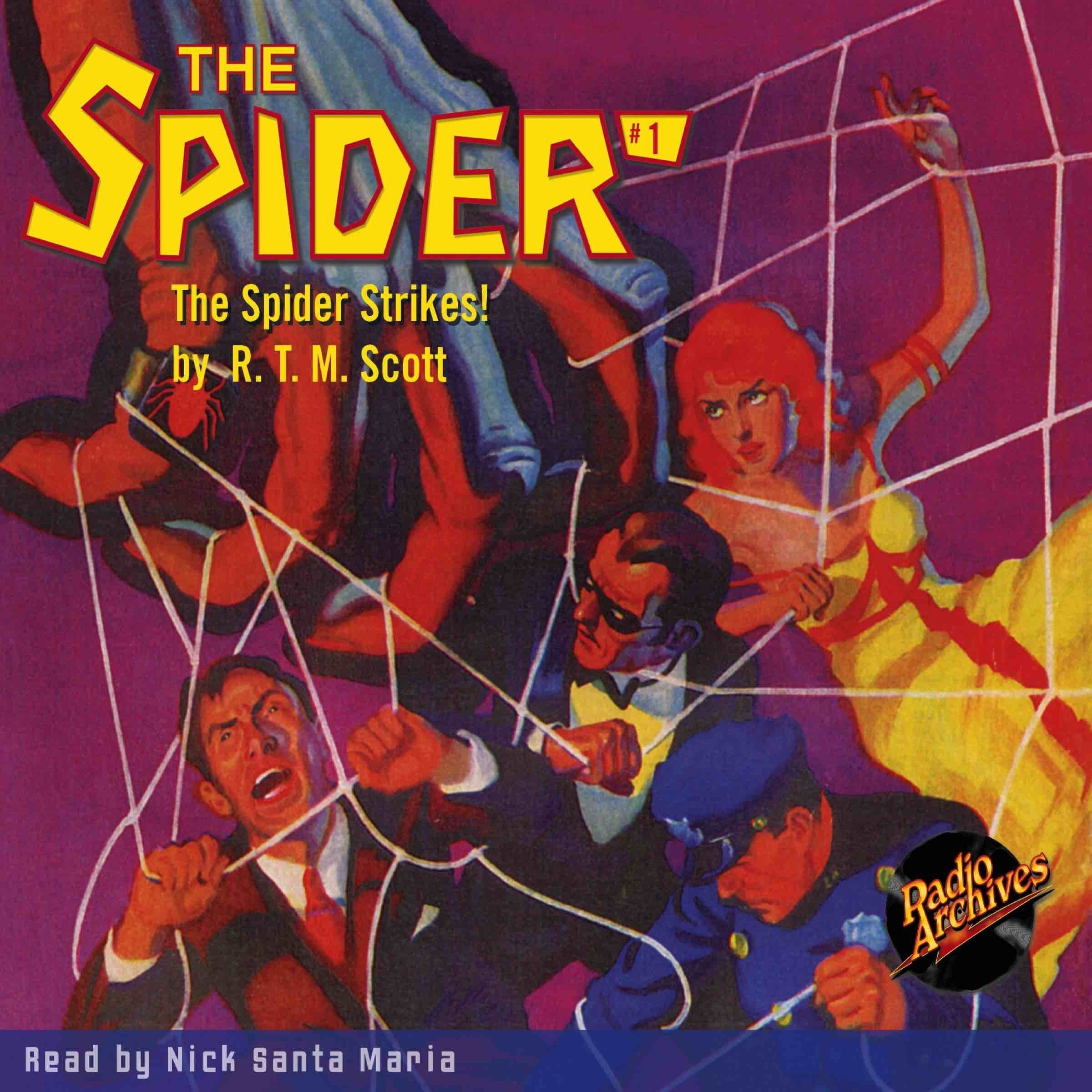 Printable Spider #1, The: The Spider Strikes Audiobook Cover Art