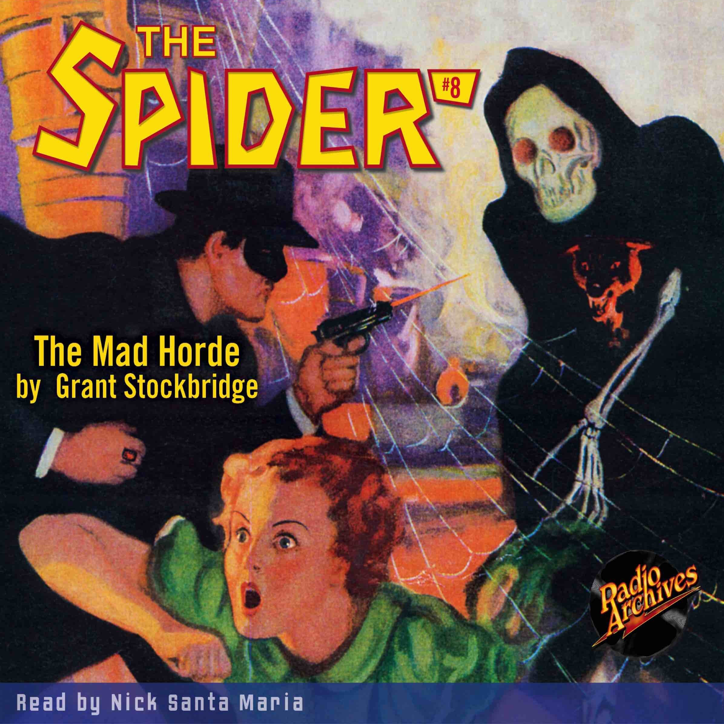 Printable Spider #8, The: The Mad Horde Audiobook Cover Art