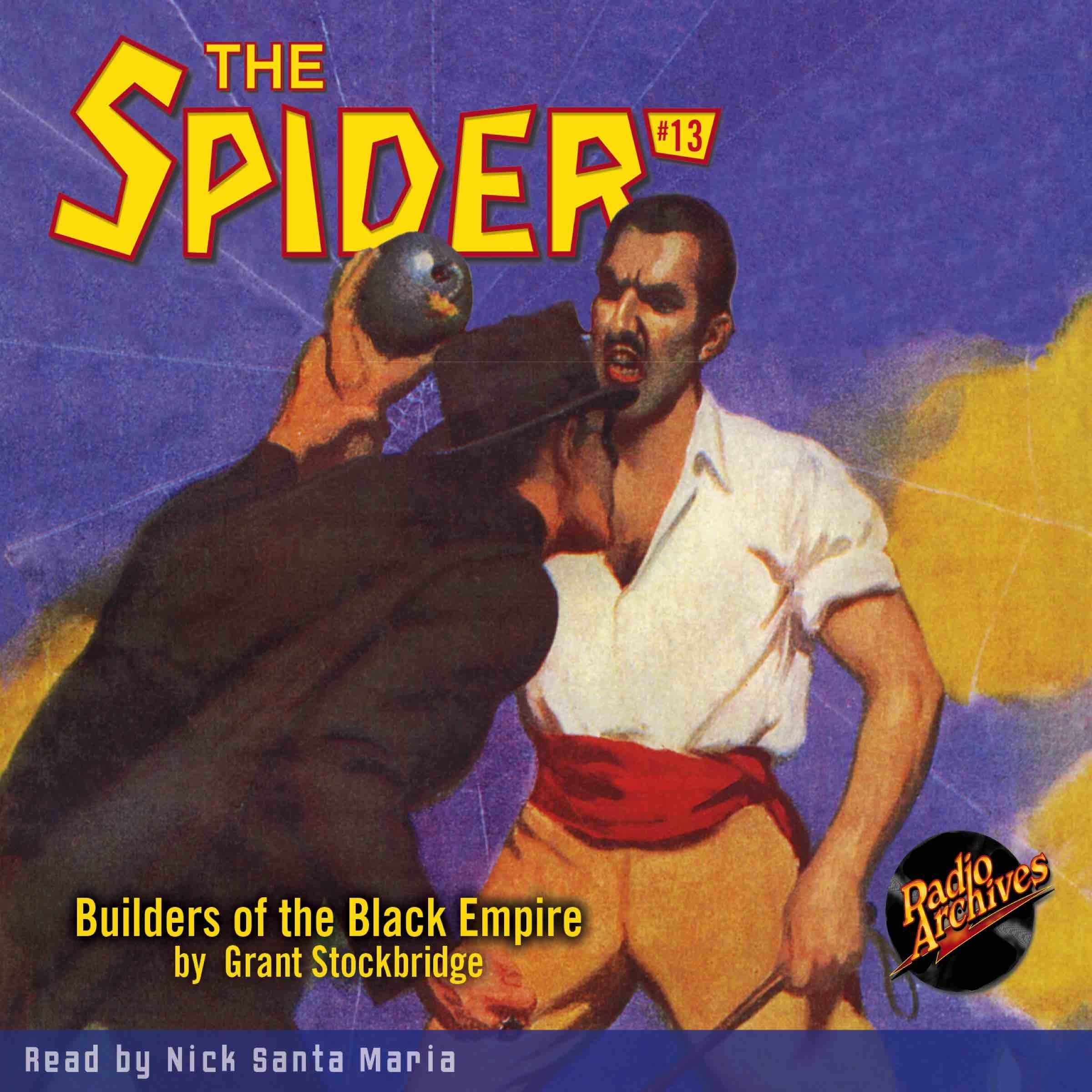 Printable Spider #13, The: Builders of the Black Empire Audiobook Cover Art