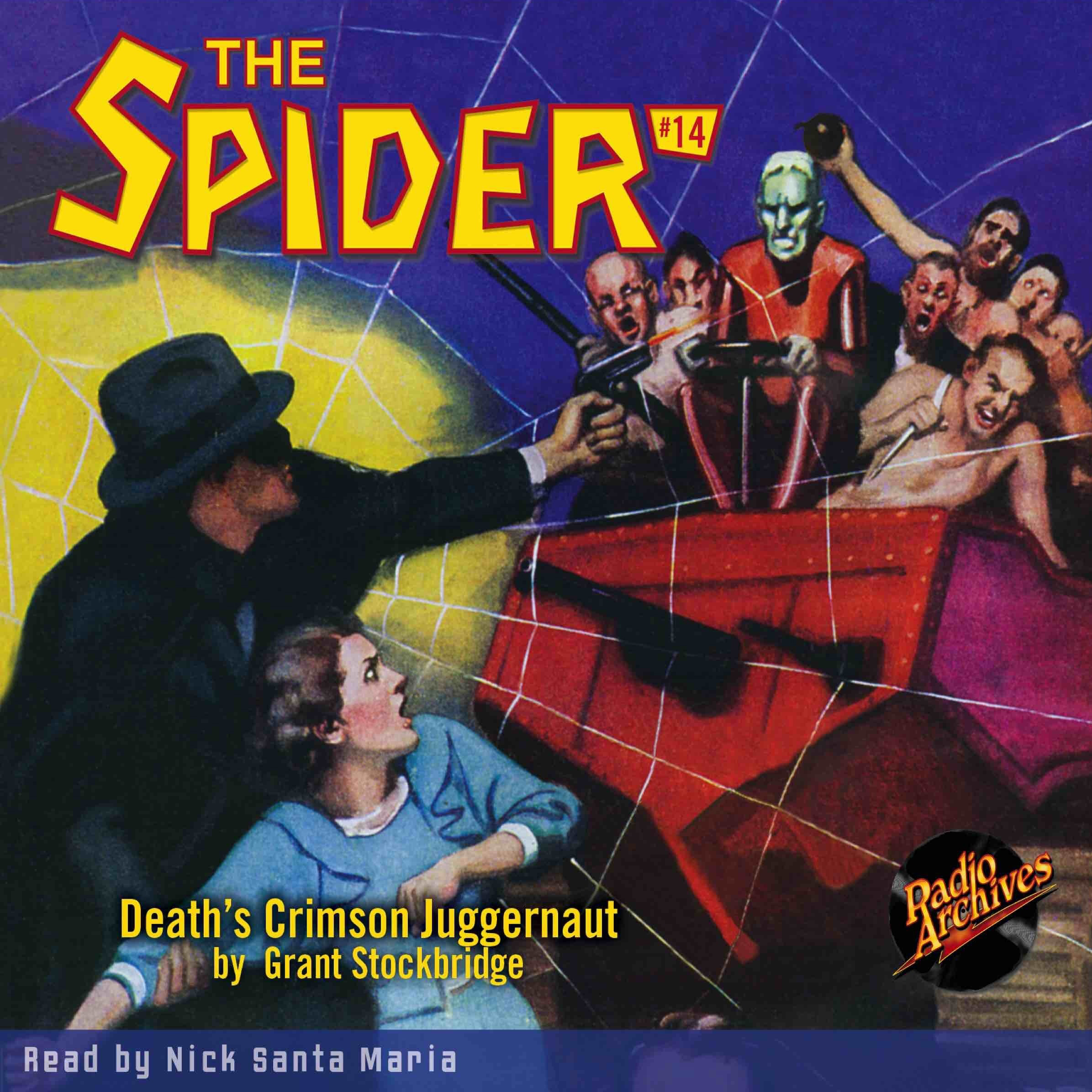 Printable Spider #14, The: Death's Crimson Juggernaut Audiobook Cover Art