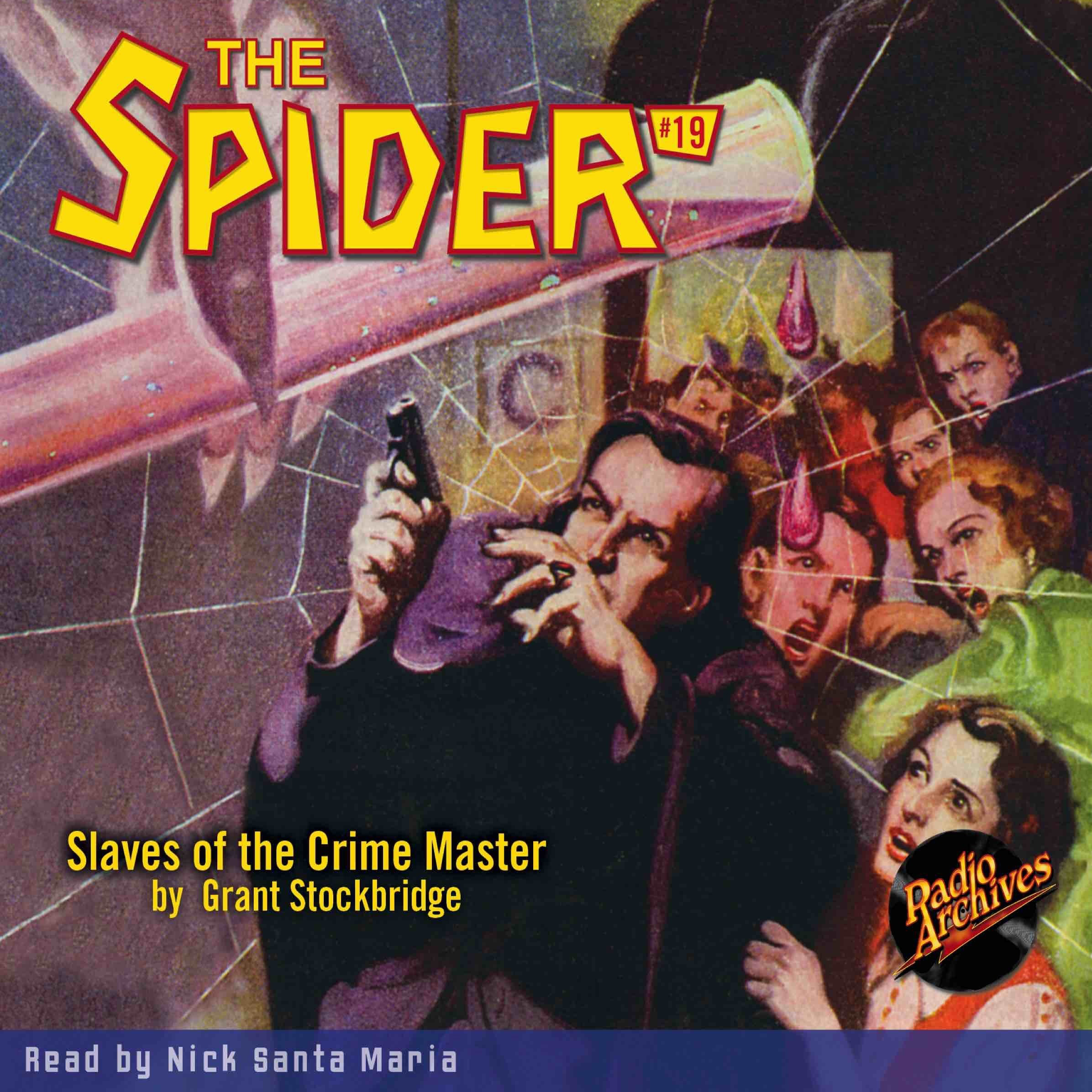 Printable Spider #19, The: Slaves of the Crime Master Audiobook Cover Art