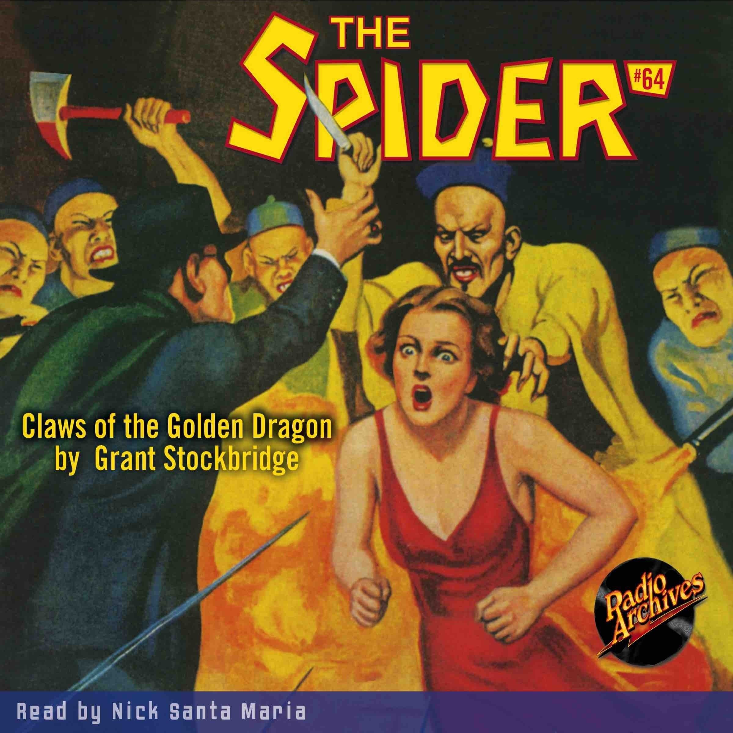 Printable Spider #64, The: Claws of the Golden Dragon Audiobook Cover Art