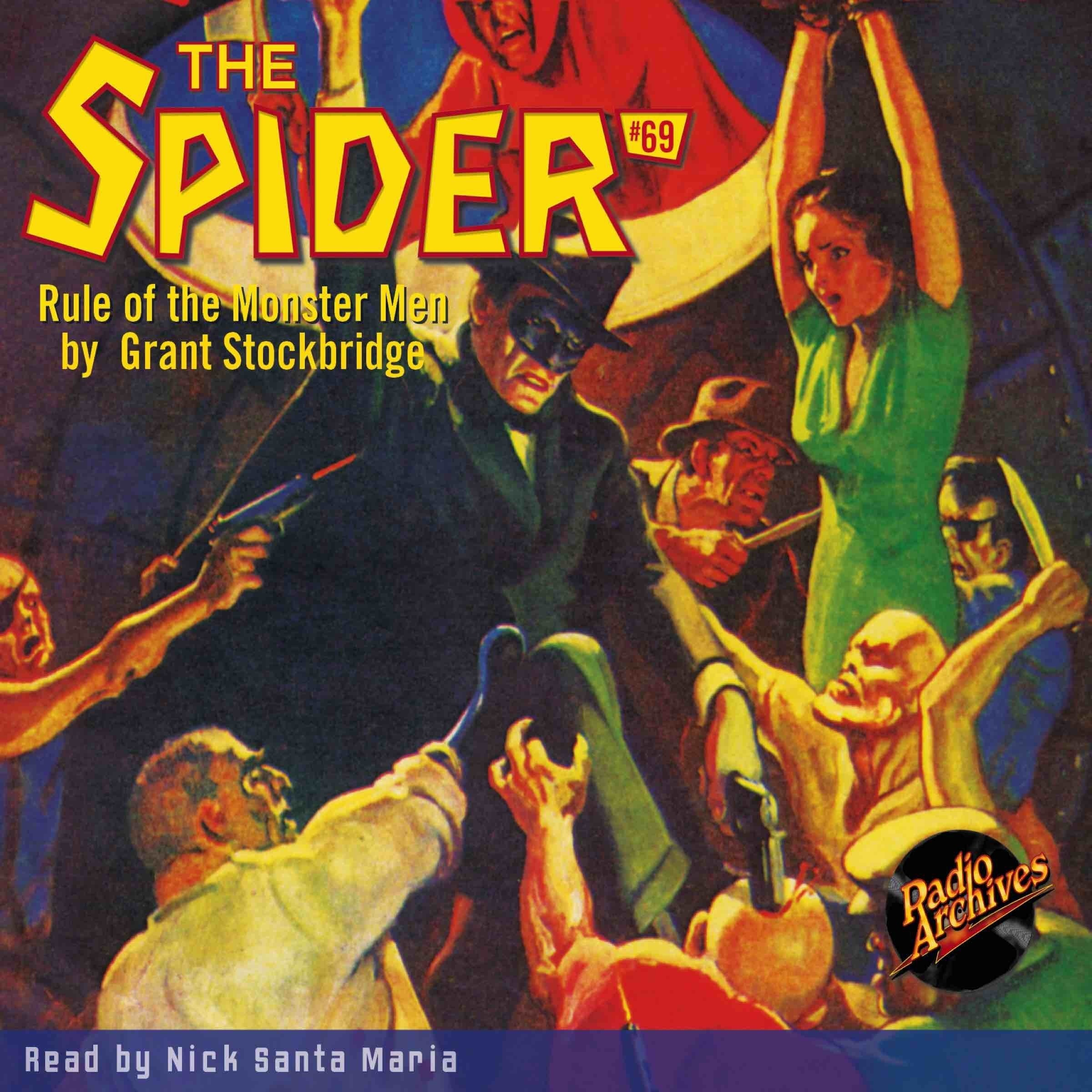 Printable Spider #69, The: Rule of the Monster Men Audiobook Cover Art