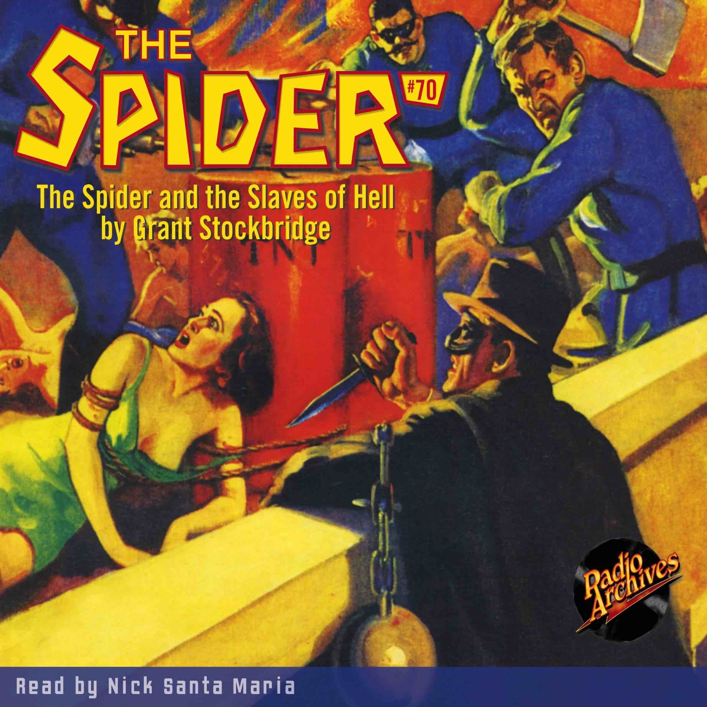 Printable Spider #70, The: The Spider and the Slaves of Hell Audiobook Cover Art