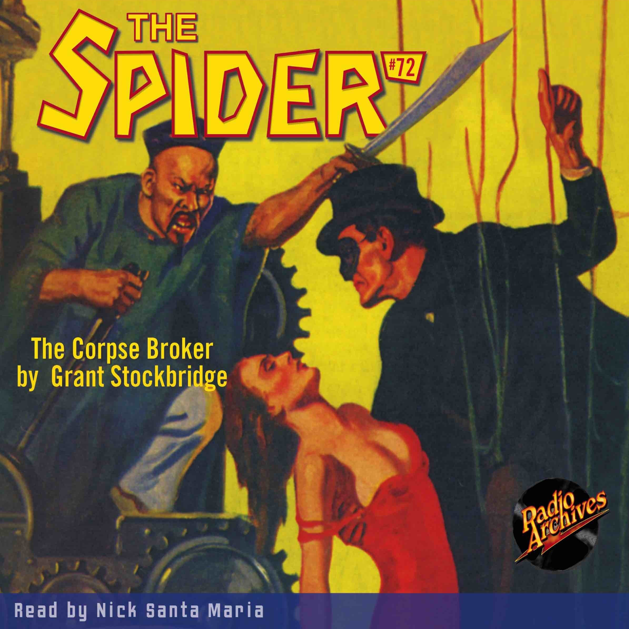 Printable Spider #72, The: The Corpse Broker Audiobook Cover Art
