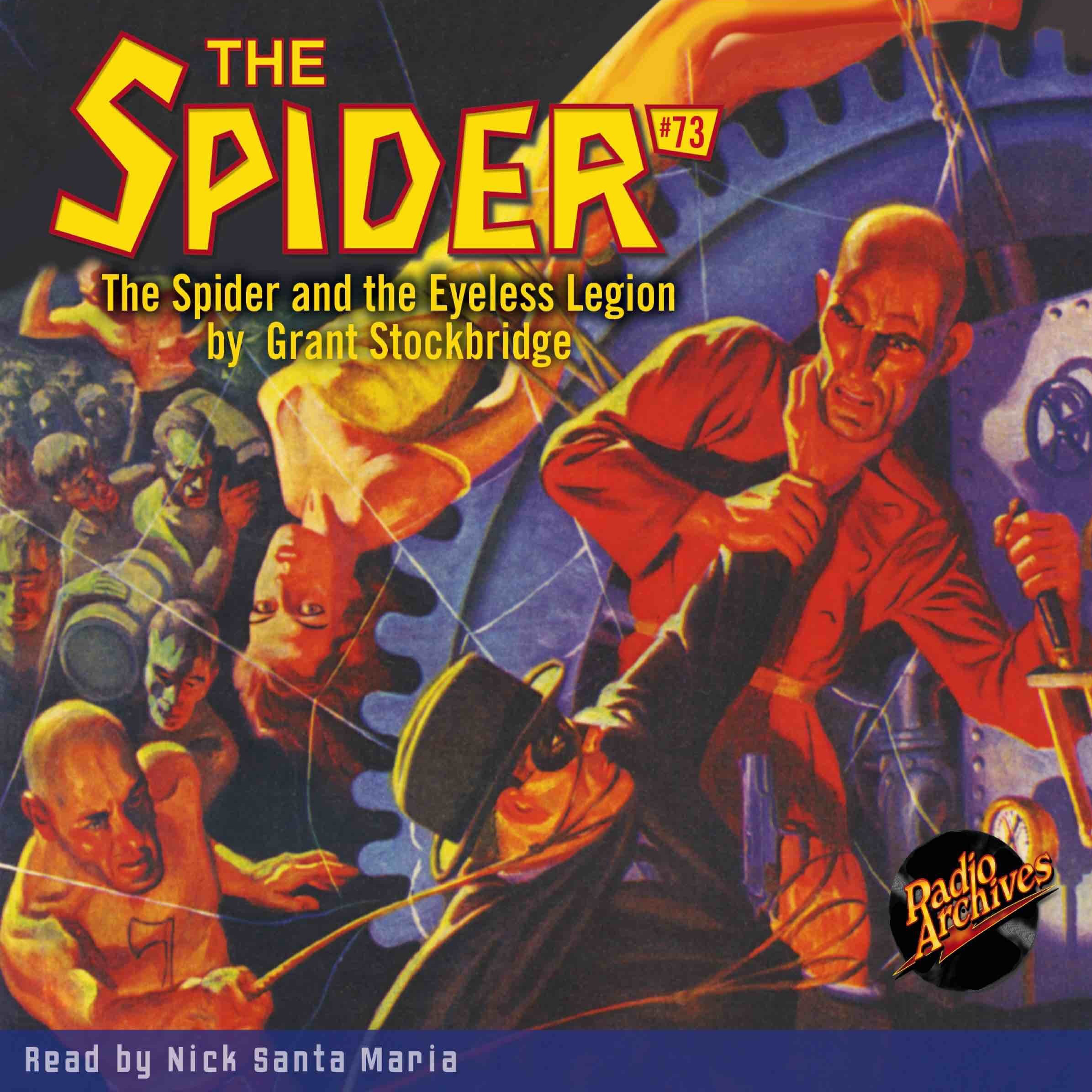 Printable Spider #73, The: The Spider and the Eyeless Legion Audiobook Cover Art