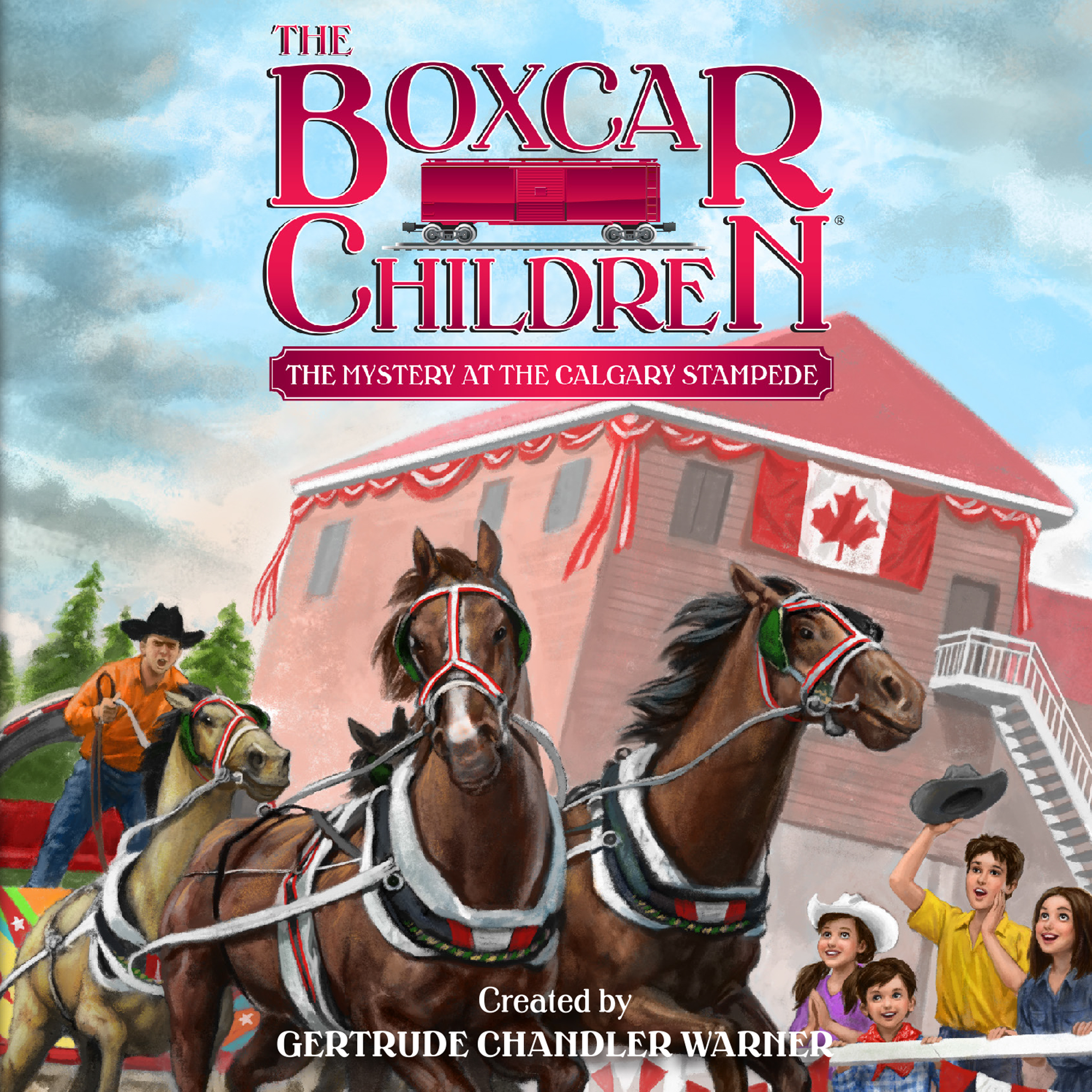 Printable The Mystery at the Calgary Stampede Audiobook Cover Art