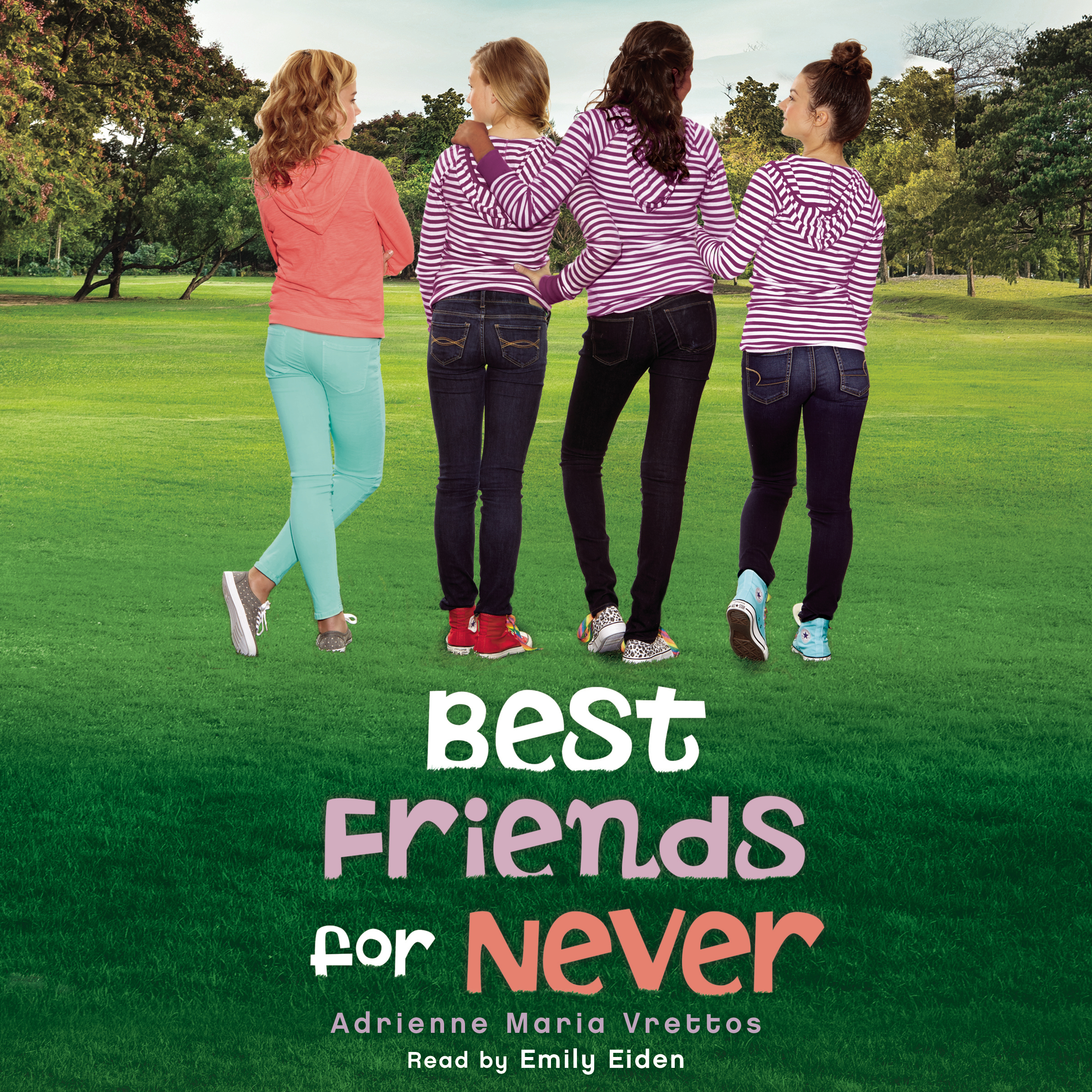 Printable Best Friends for Never Audiobook Cover Art