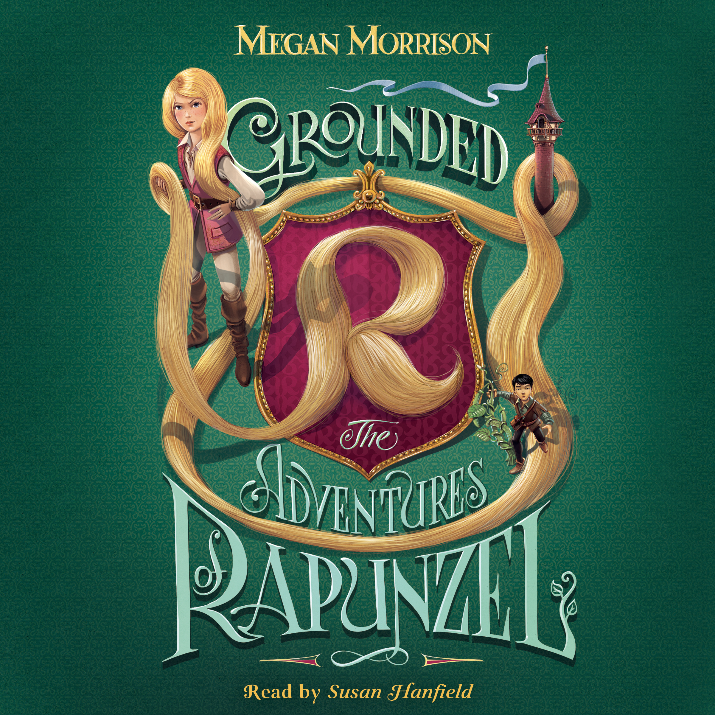 Printable Grounded: The Adventures of Rapunzel Audiobook Cover Art