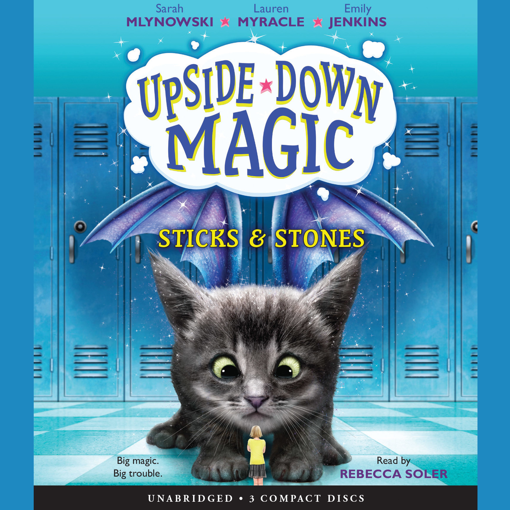Printable Upside-Down Magic, Book 2: Sticks & Stones Audiobook Cover Art