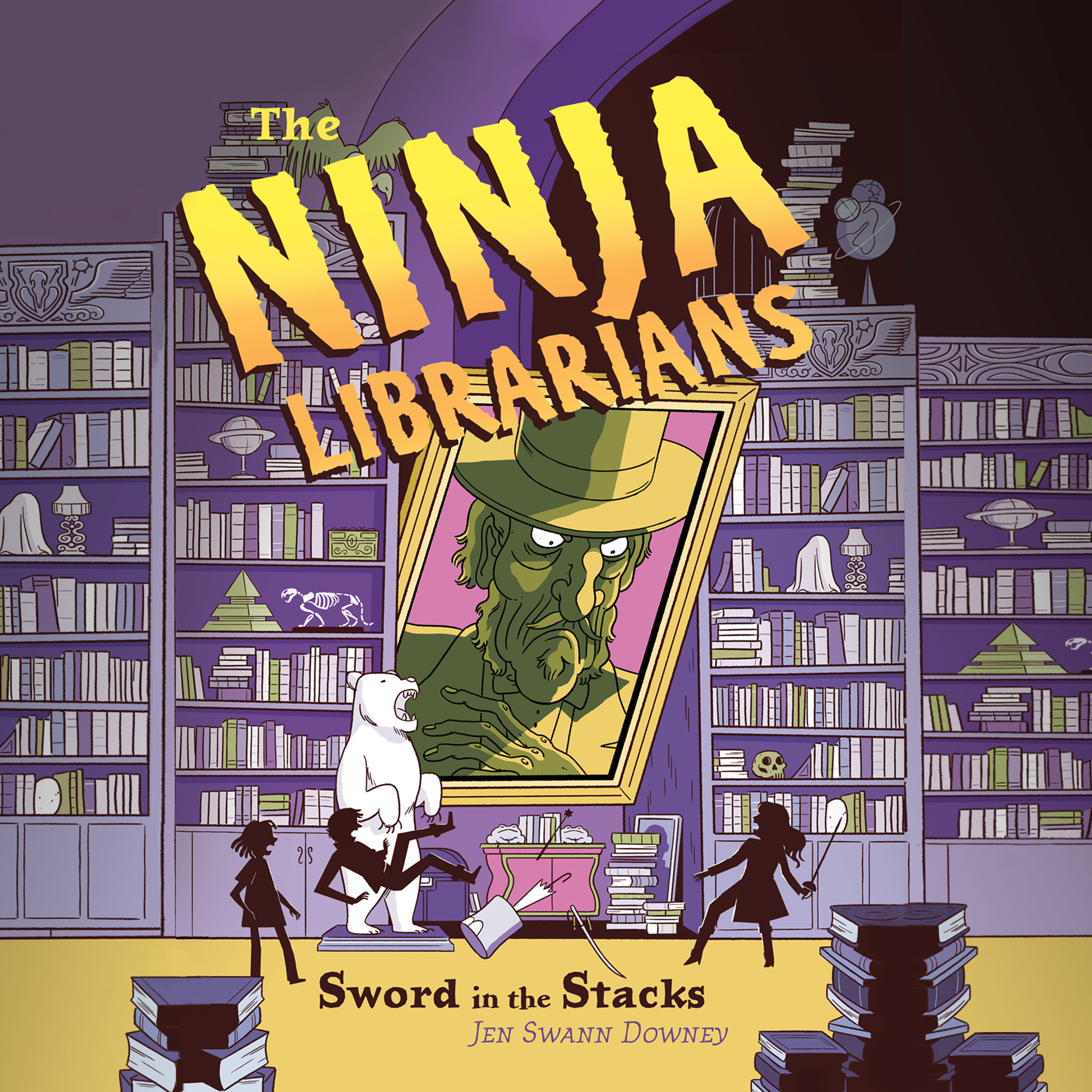 Printable The Ninja Librarians: Sword in the Stacks Audiobook Cover Art