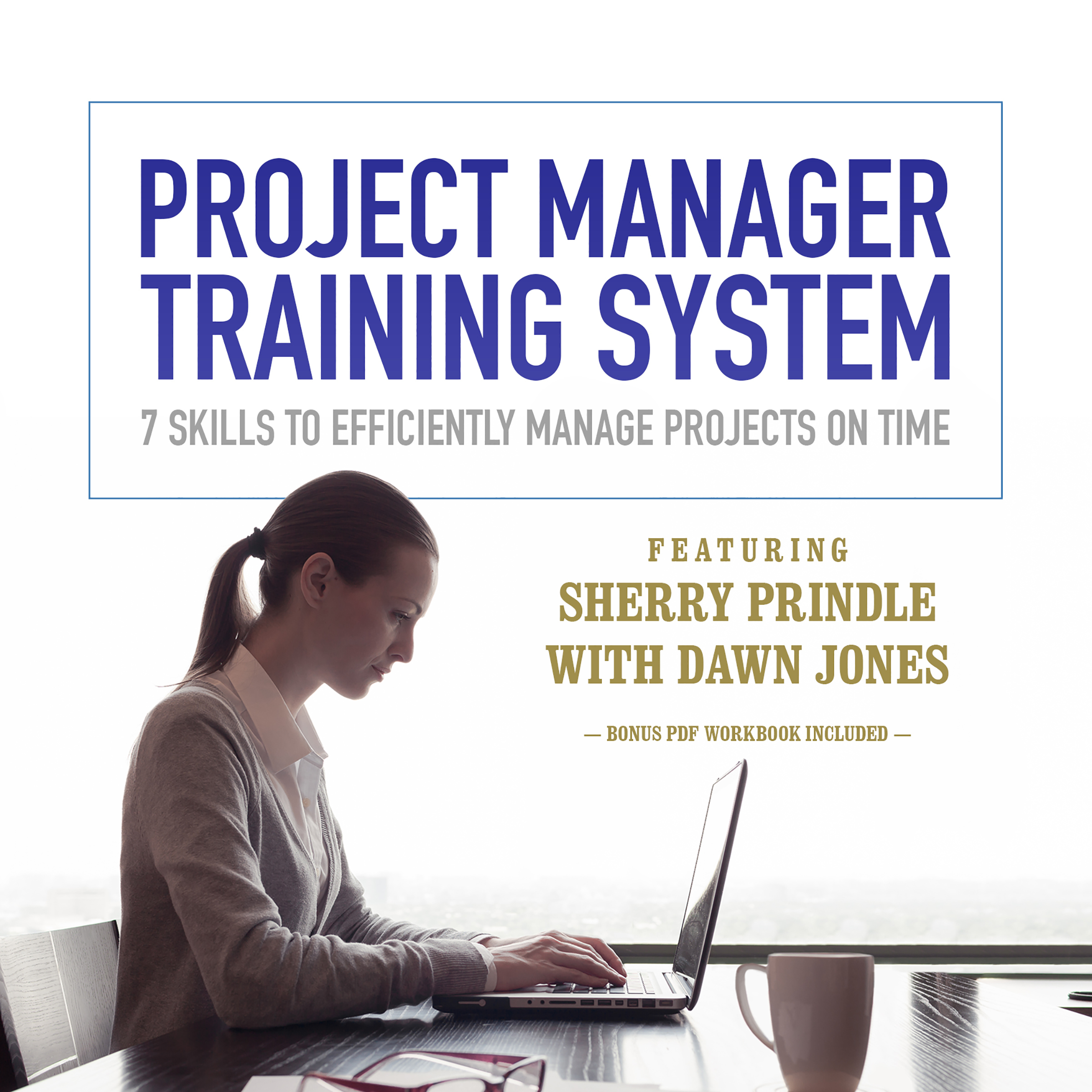 Printable Project Manager Training System: 7 Skills to Efficiently Manage Projects on Time Audiobook Cover Art