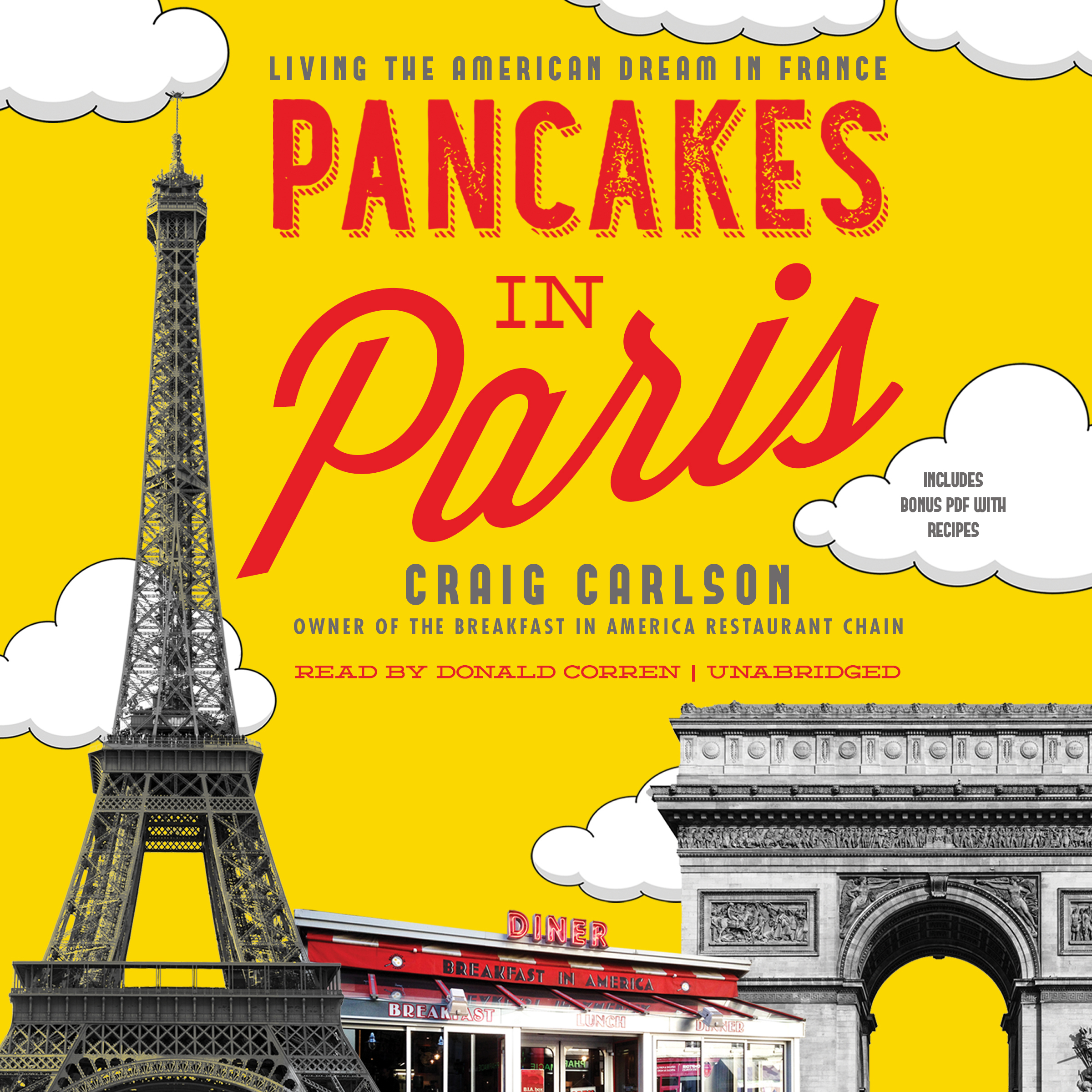 Printable Pancakes in Paris: Living the American Dream in France Audiobook Cover Art