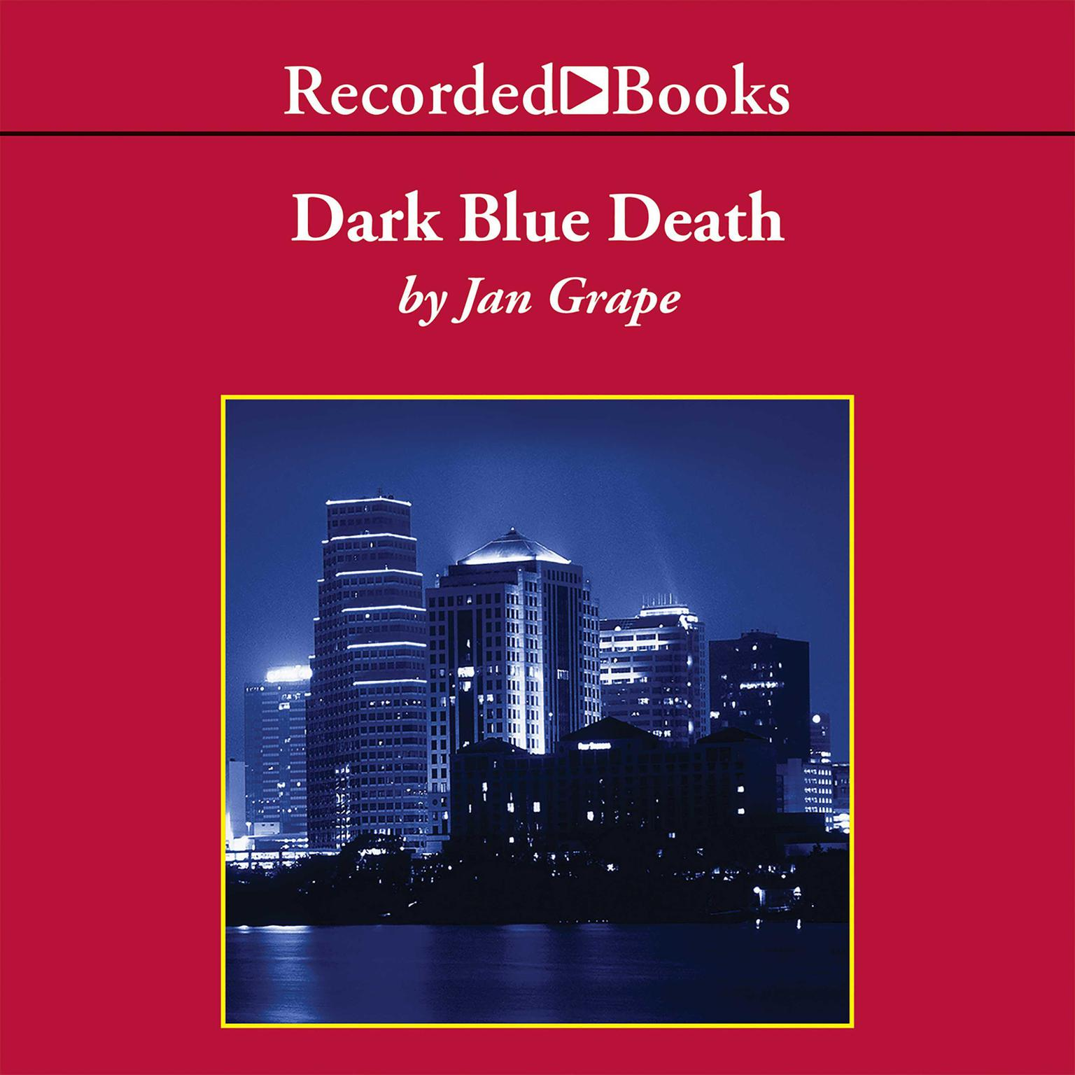 Printable Dark Blue Death Audiobook Cover Art