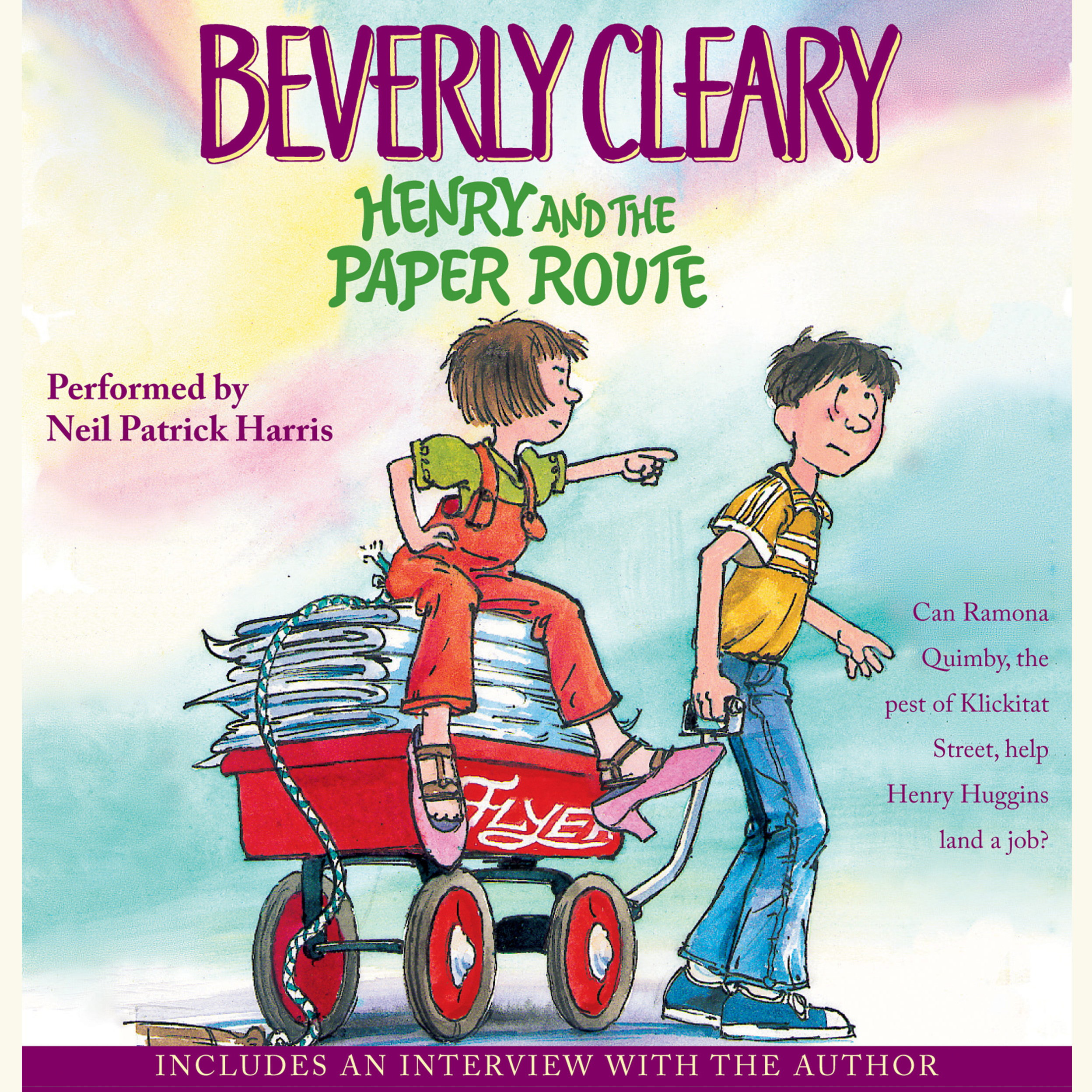 Printable Henry and the Paper Route Audiobook Cover Art