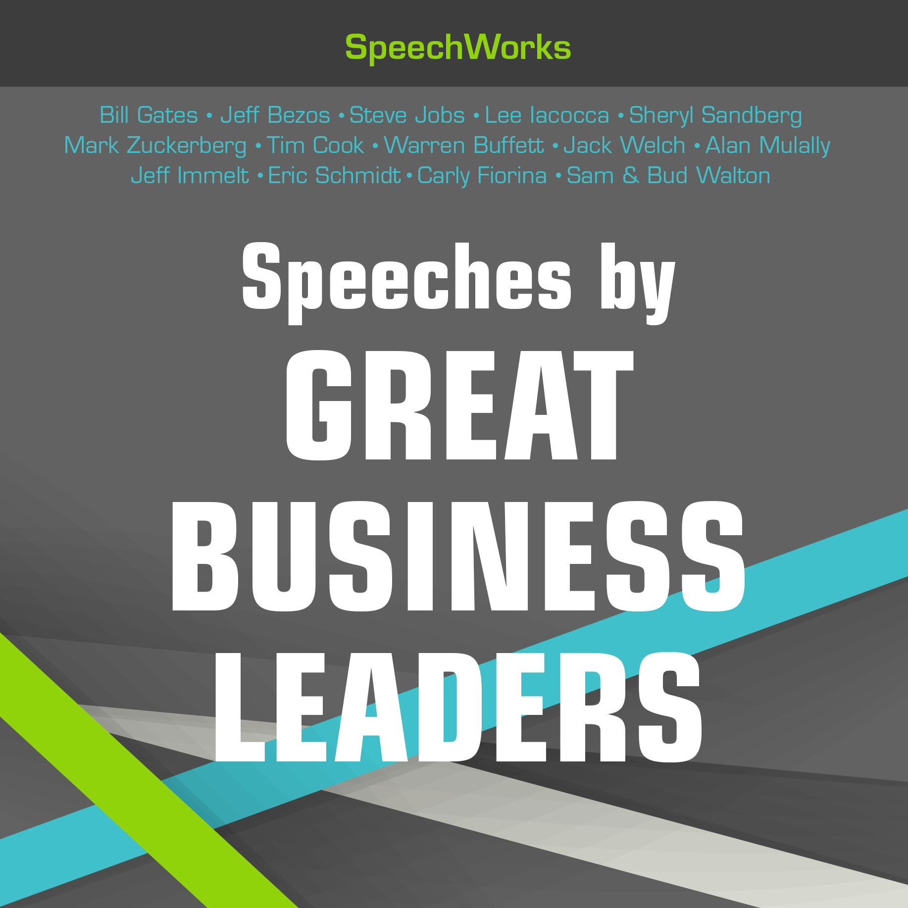 Printable Speeches by Great Business Leaders  Audiobook Cover Art